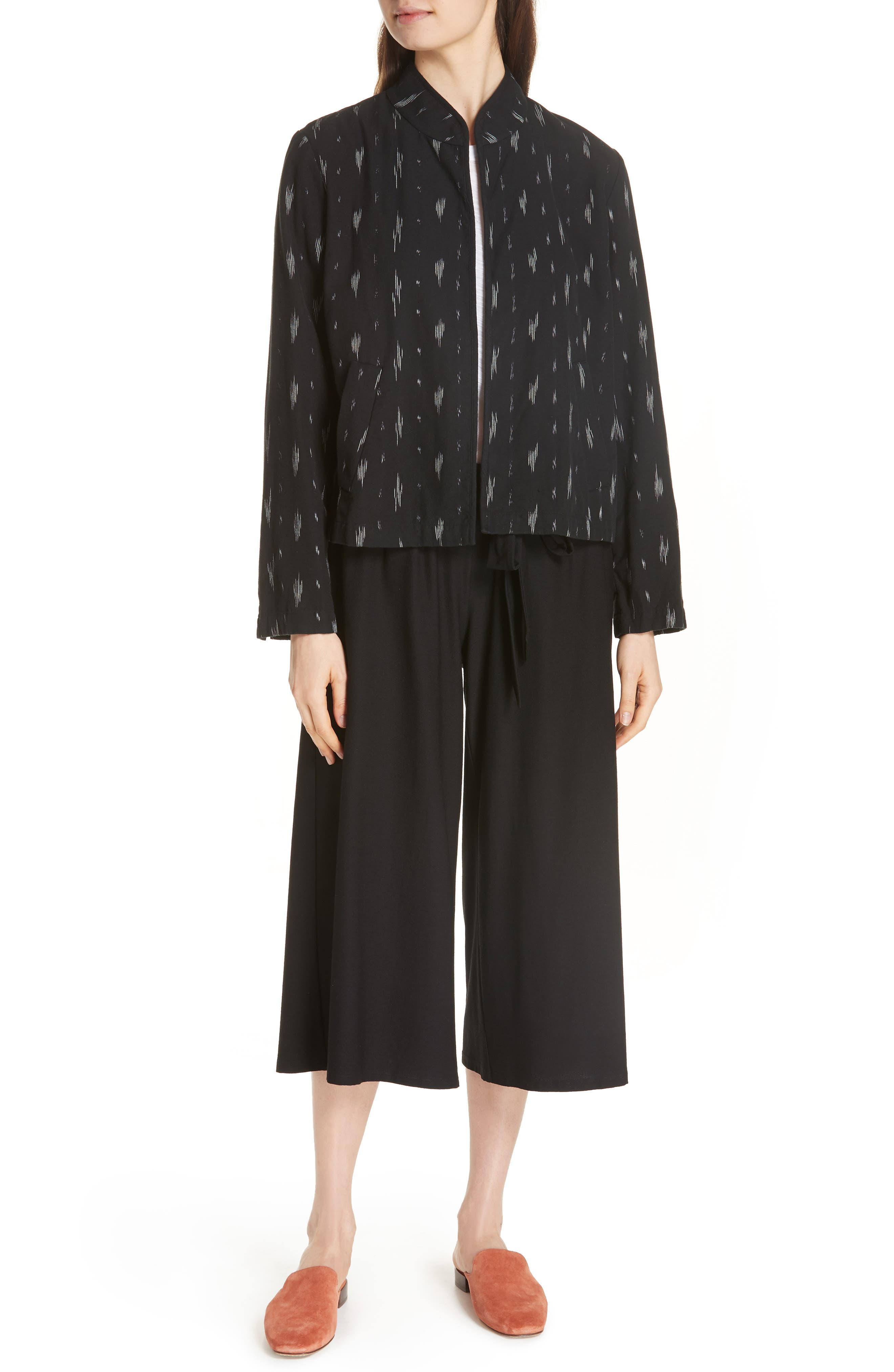 Organic Cotton Jacket,                             Alternate thumbnail 6, color,                             Black