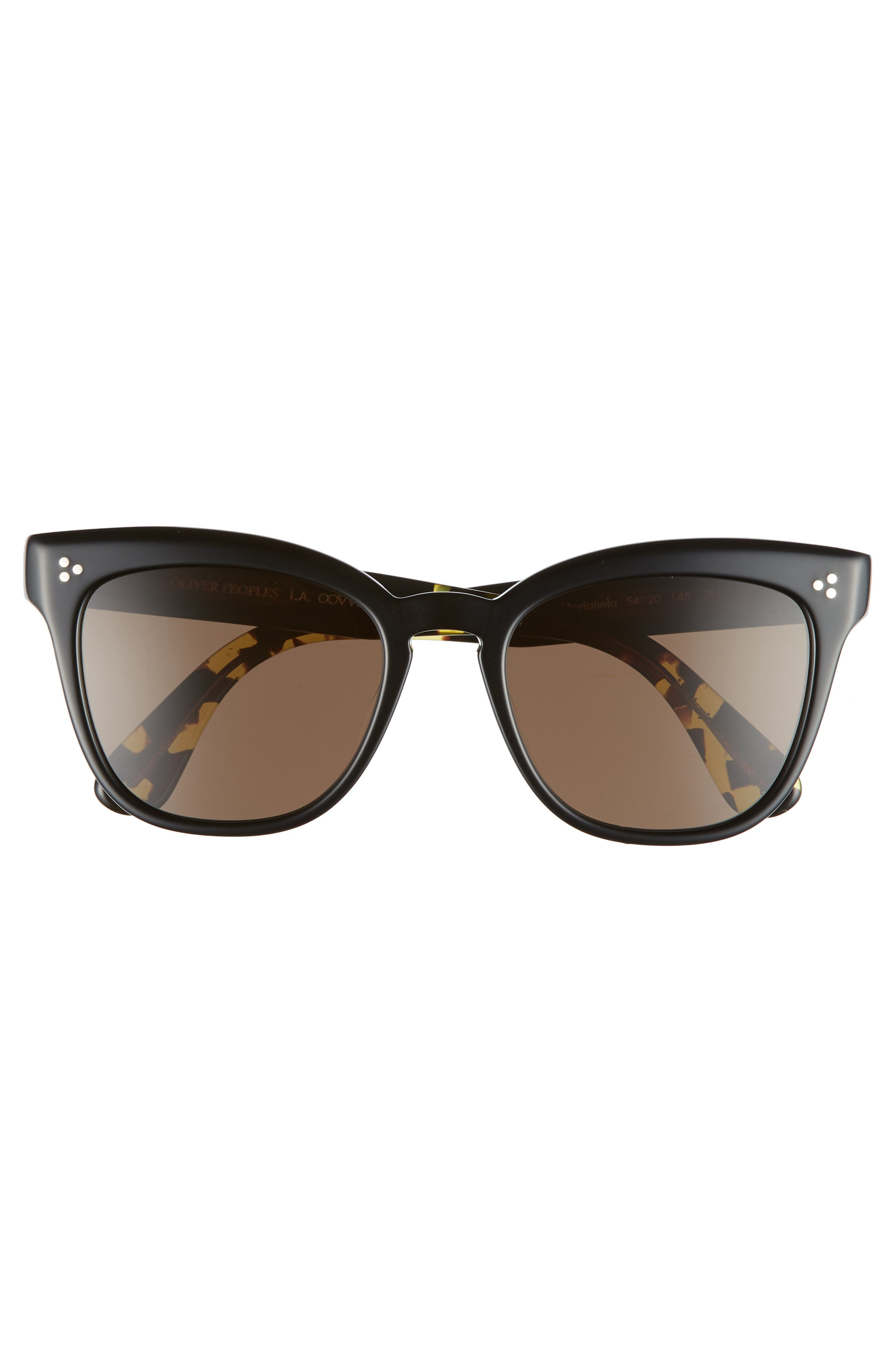 Marianela 54mm Cat Eye Sunglasses,                             Alternate thumbnail 3, color,                             Black