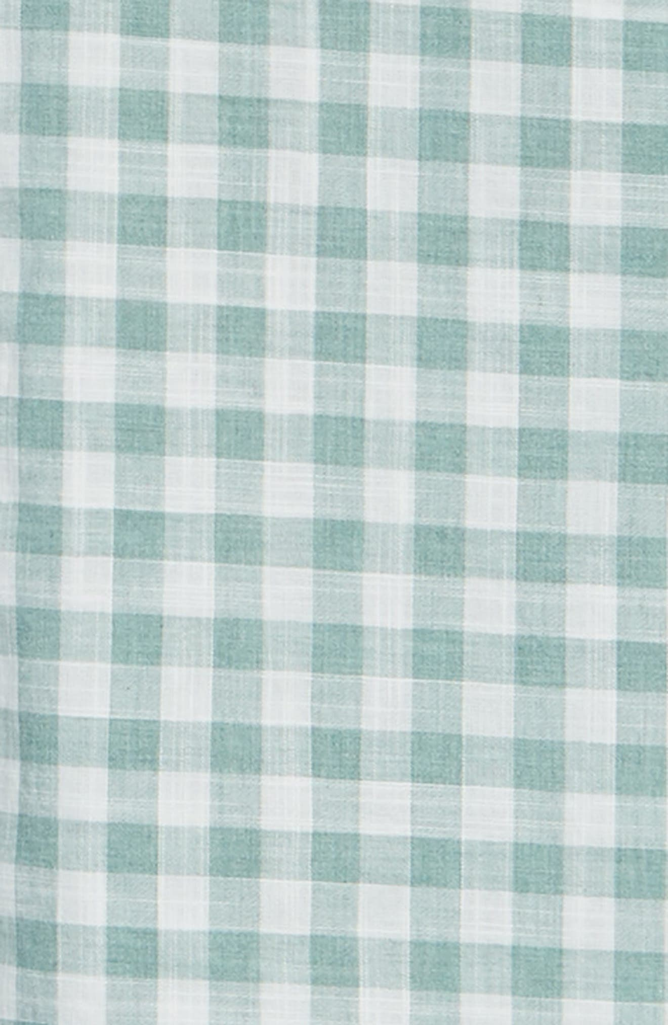 Watts Classic Fit Gingham Sport Shirt,                             Alternate thumbnail 3, color,                             Clover