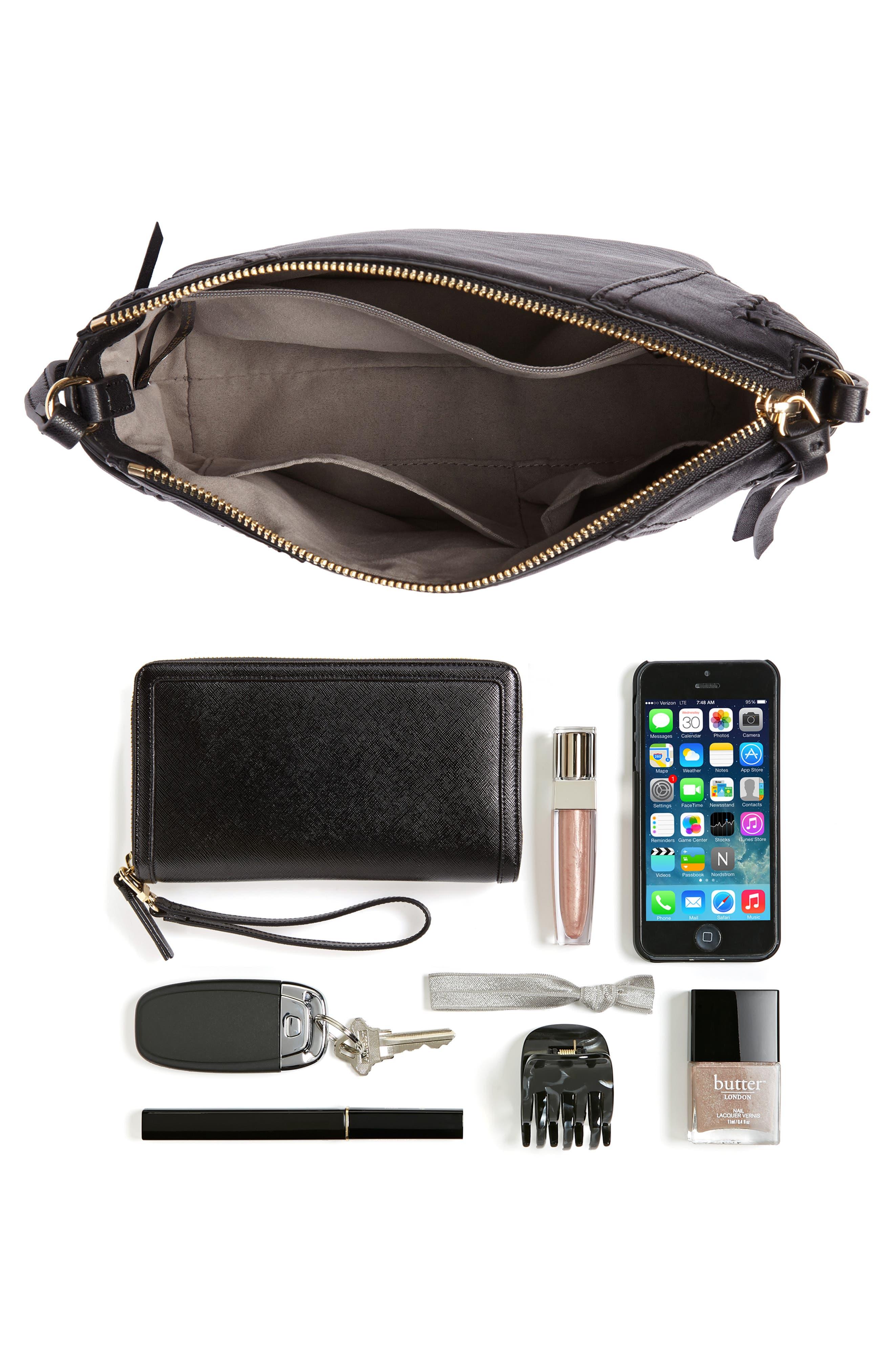Ilda Leather Crossbody Bag,                             Alternate thumbnail 7, color,