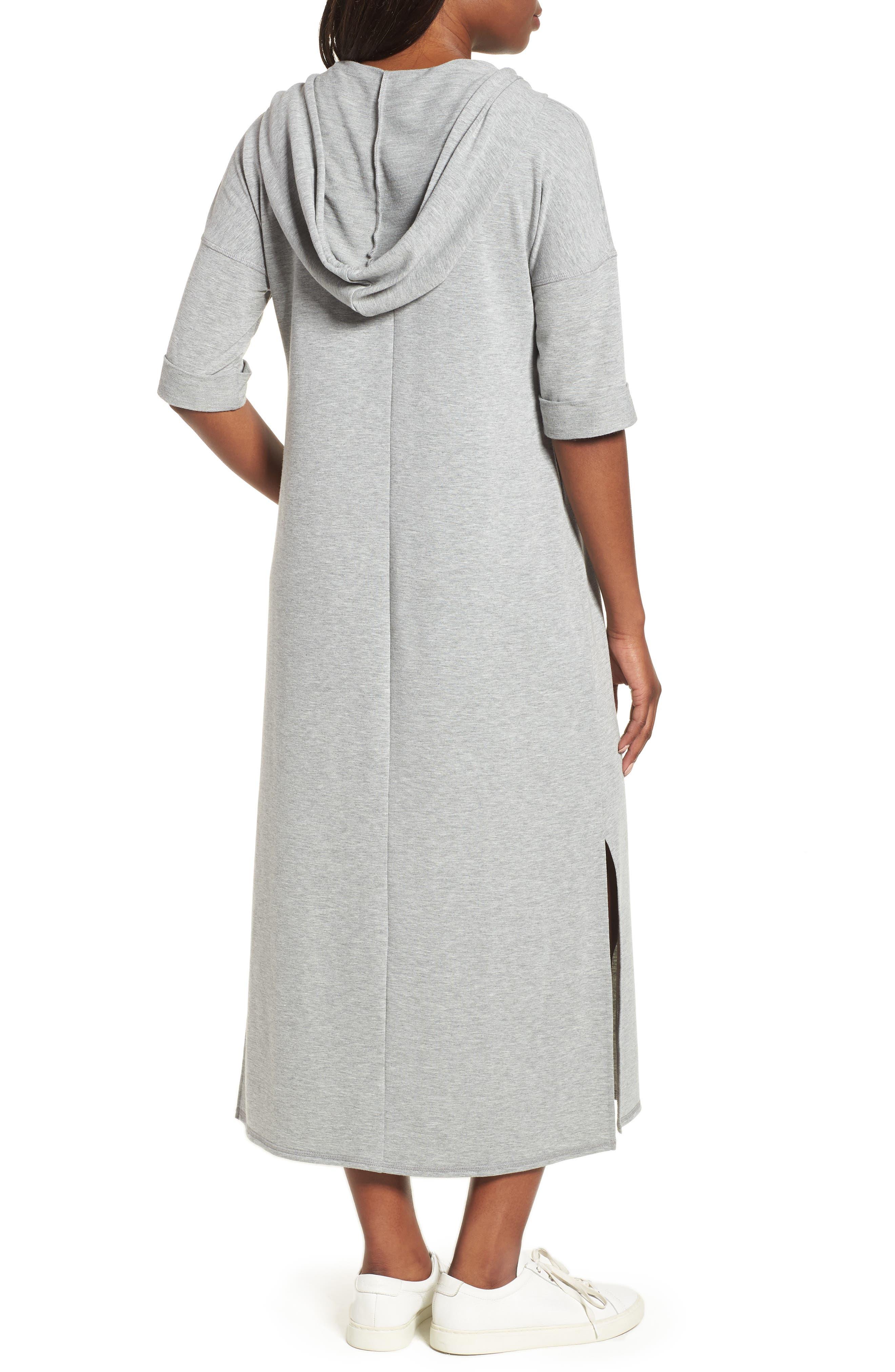 Off-Duty Knit Maxi Dress,                             Alternate thumbnail 2, color,                             Grey Heather
