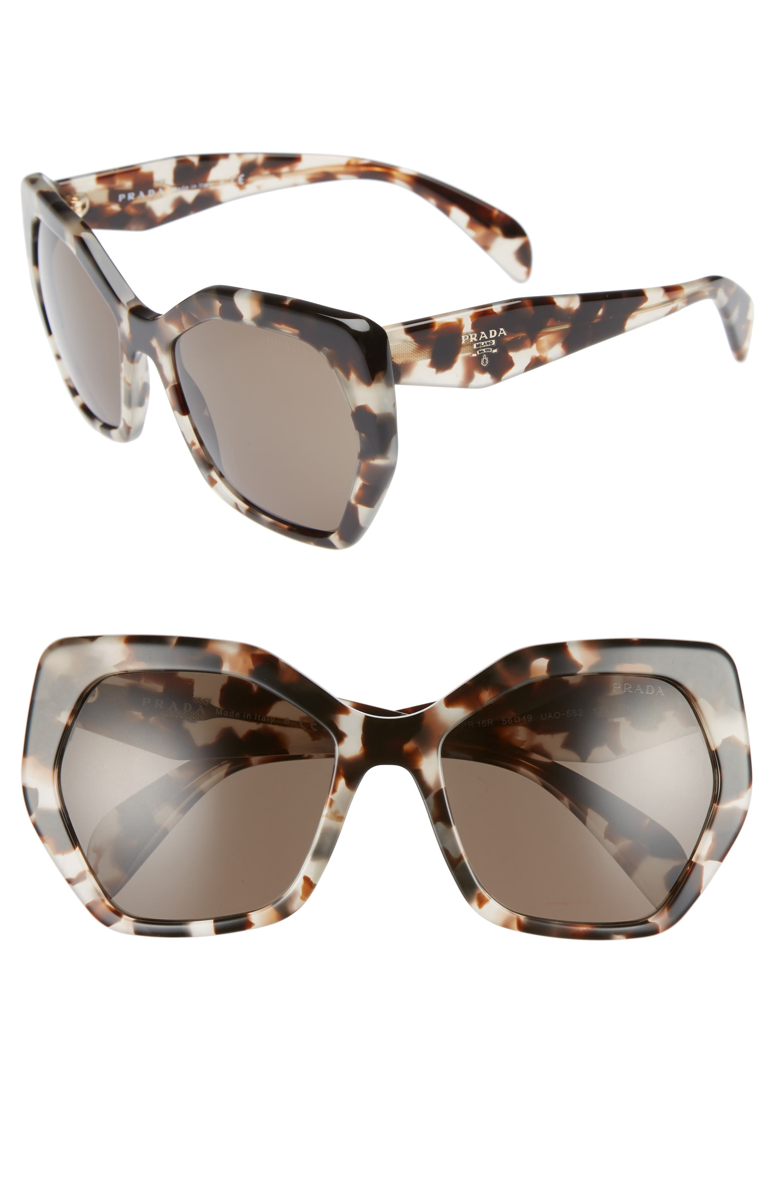 Heritage 56mm Sunglasses,                         Main,                         color, Spotted Opal Brown Solid
