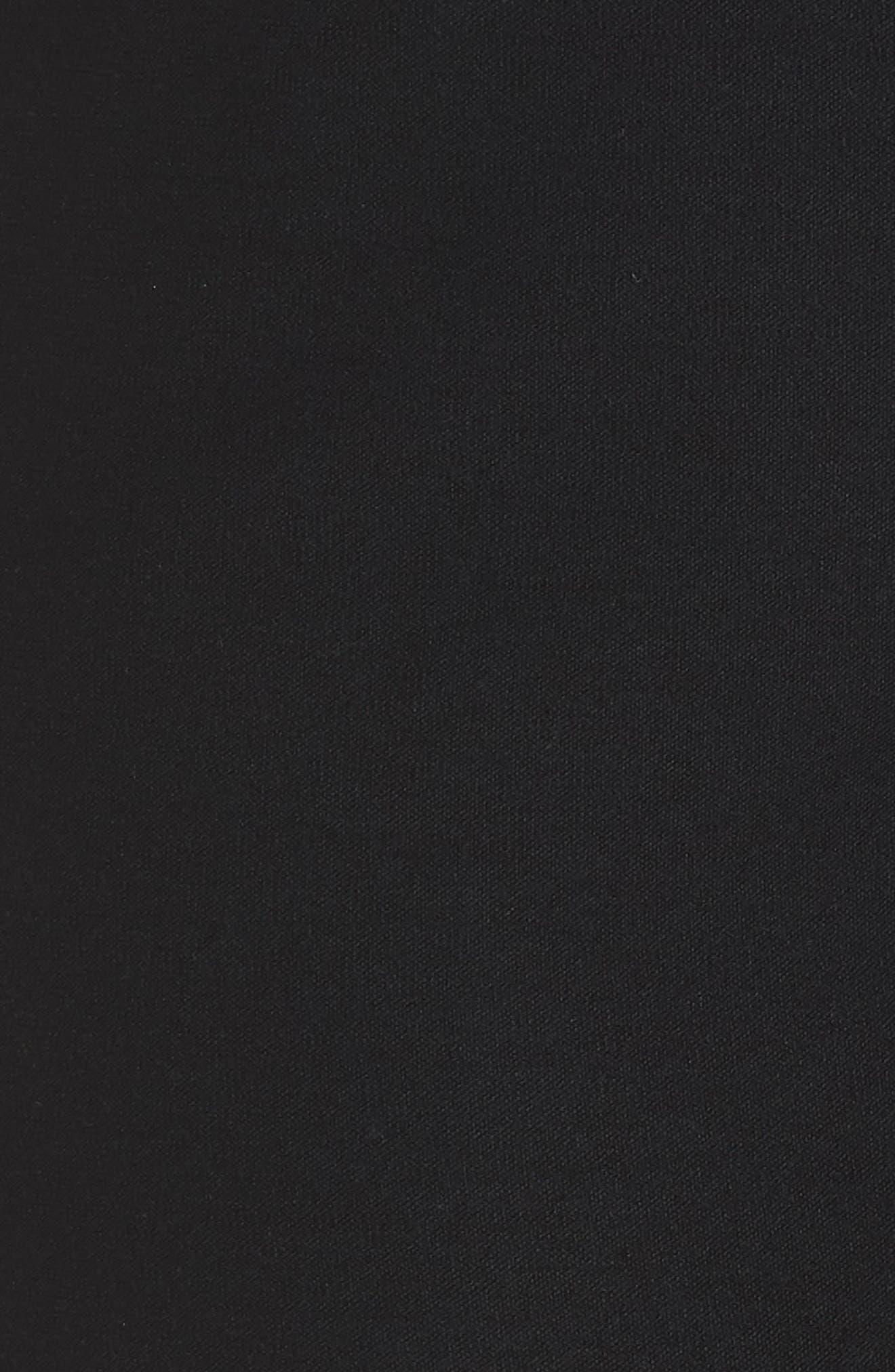 Straight Leg Knit Pants,                             Alternate thumbnail 3, color,                             Black