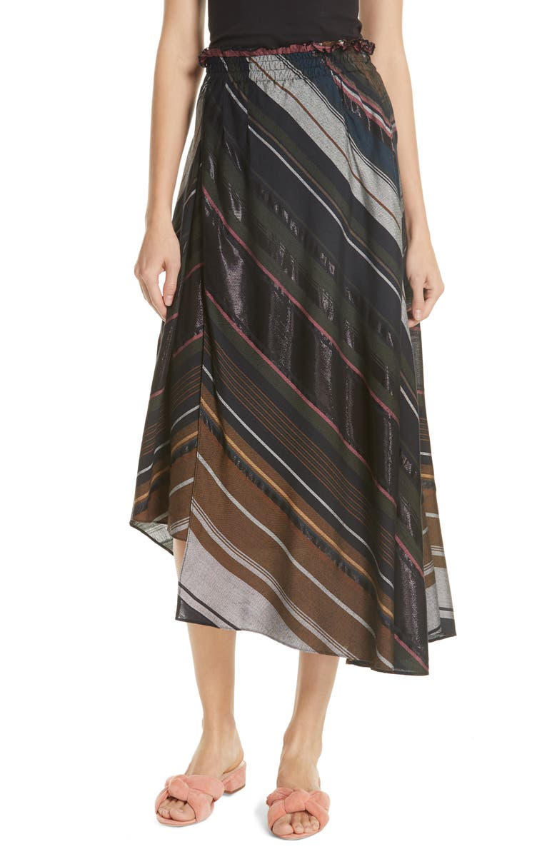 Turkanna Stripe Midi Skirt