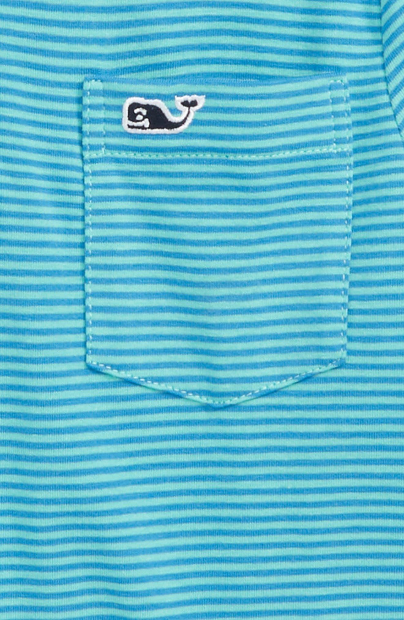 Edgartown Stripe Polo,                             Alternate thumbnail 2, color,                             Capri Blue