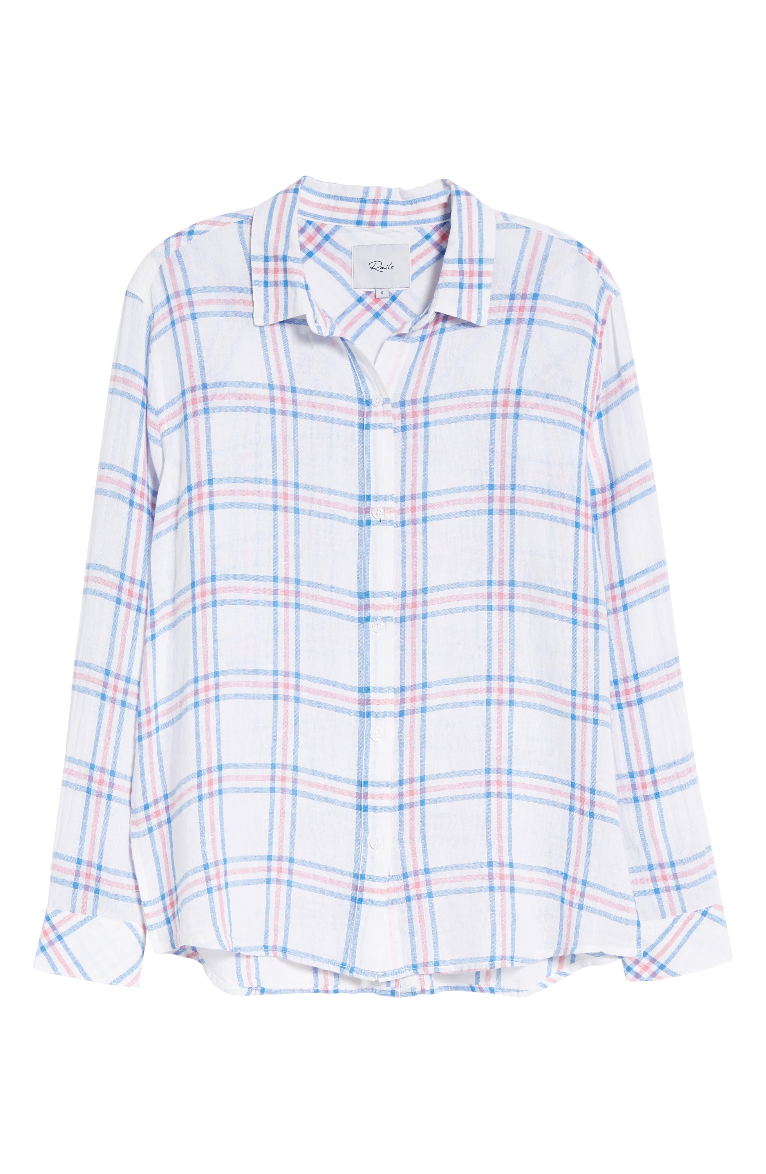 Sydney Stripe Shirt,                             Alternate thumbnail 3, color,                             Raspberry Azure White