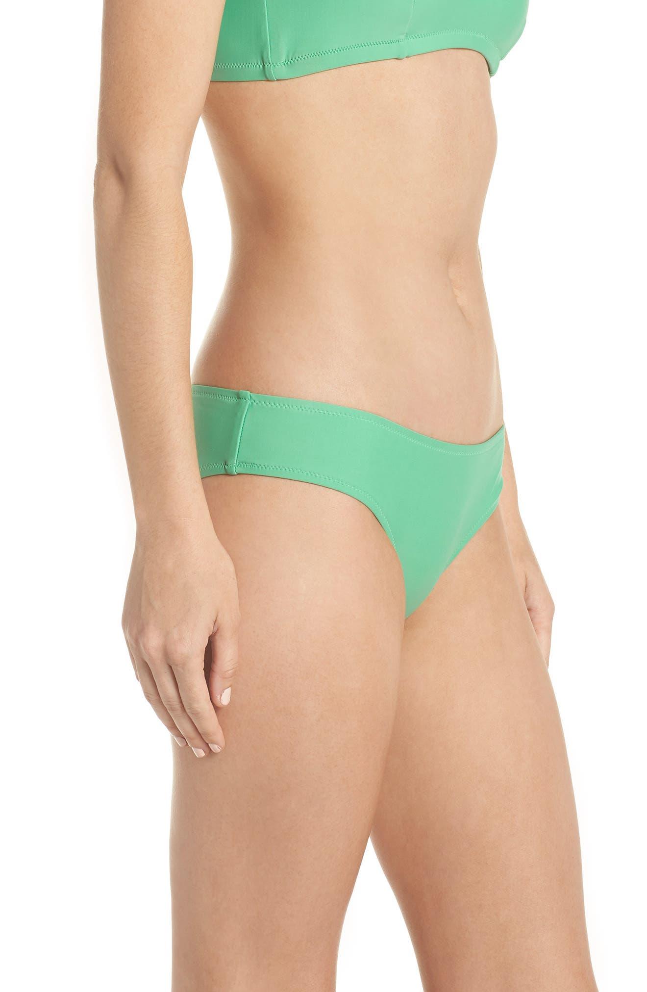 J.Crew Hipster Bikini Bottoms,                             Alternate thumbnail 3, color,                             Bright Spearmint