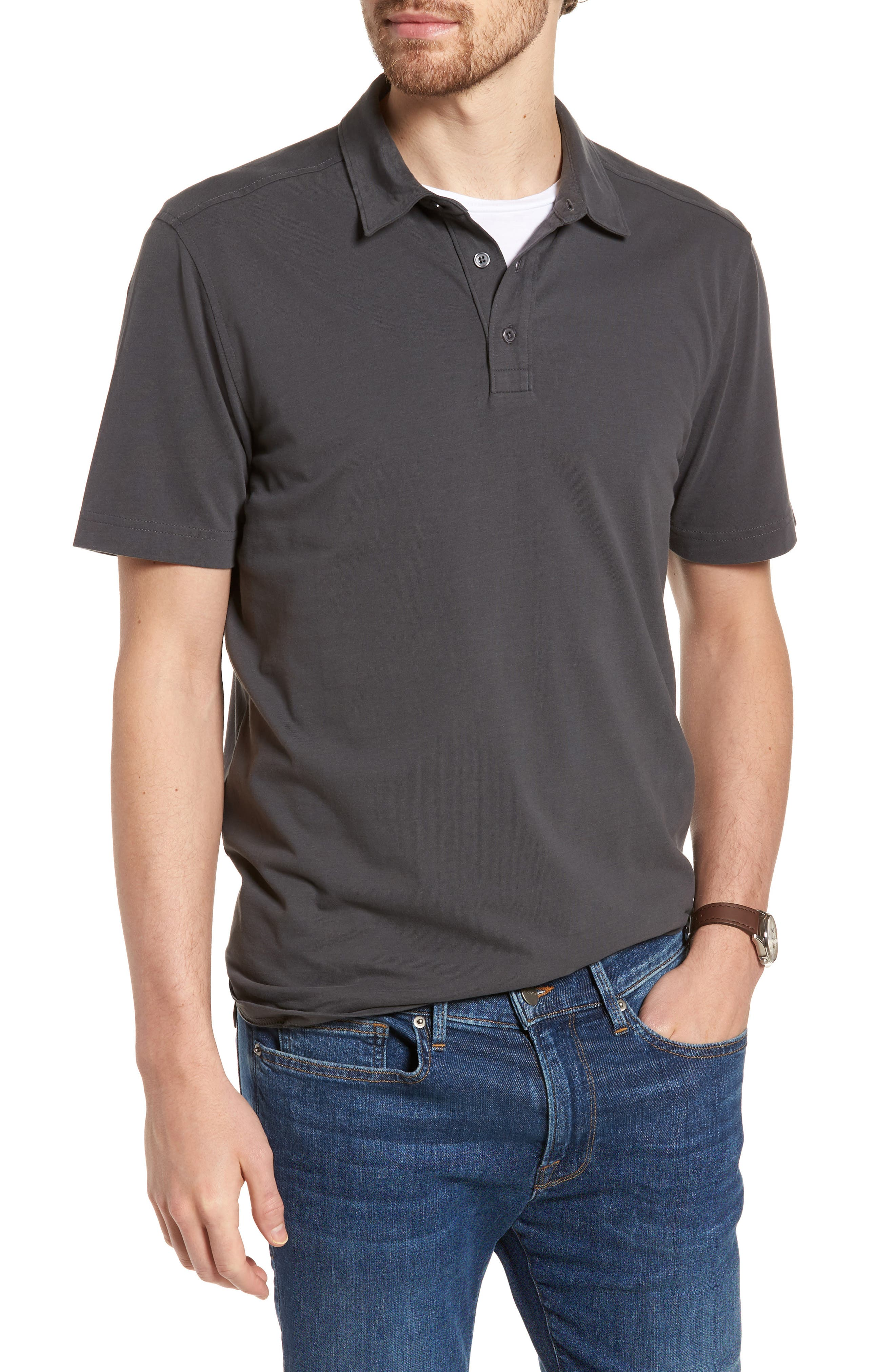 1901 Brushed Pima Cotton Jersey Polo Recommend Online aDsKh