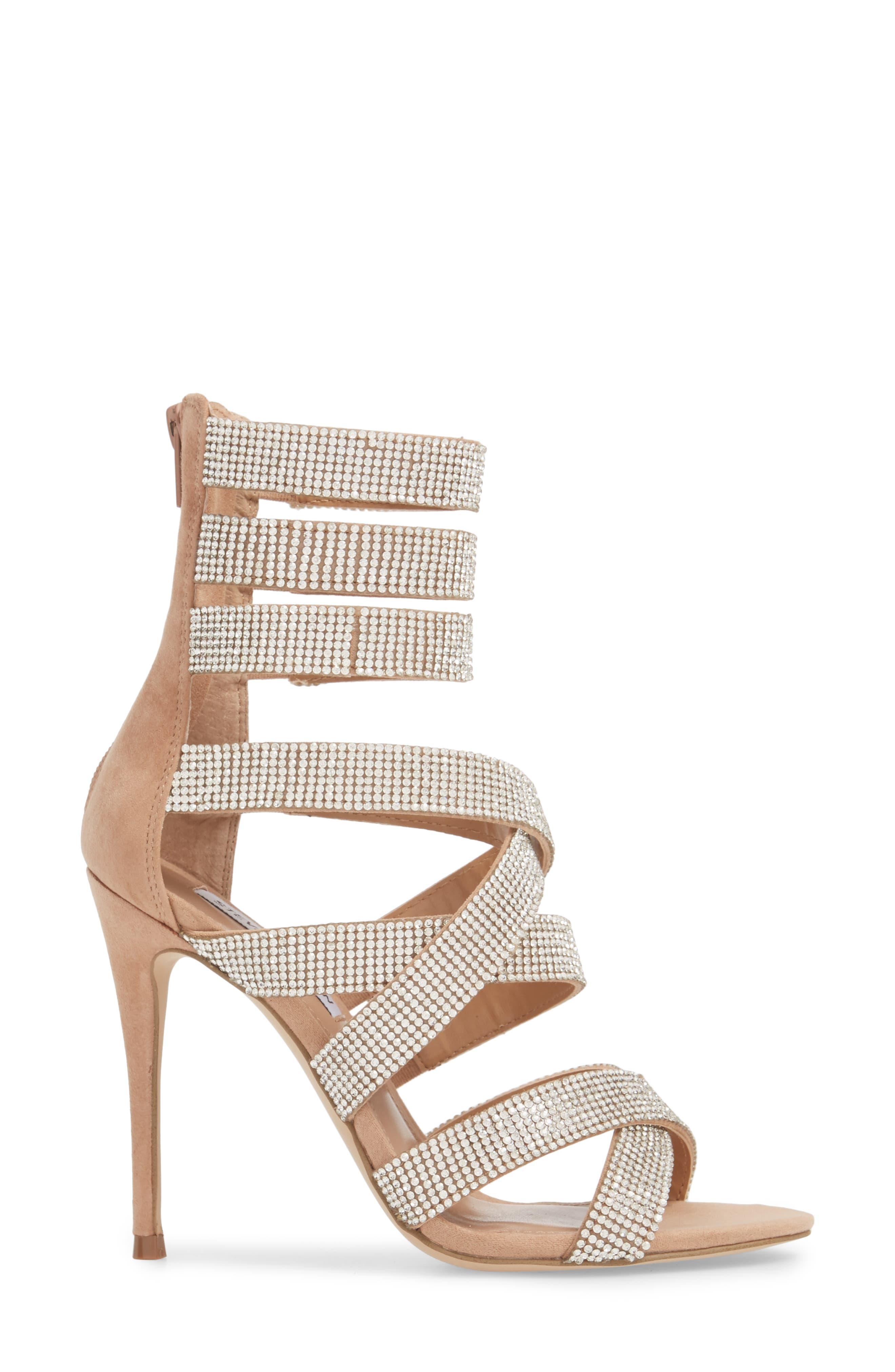 Malika Crystal Embellished Sandal,                             Alternate thumbnail 6, color,                             Rhinestone