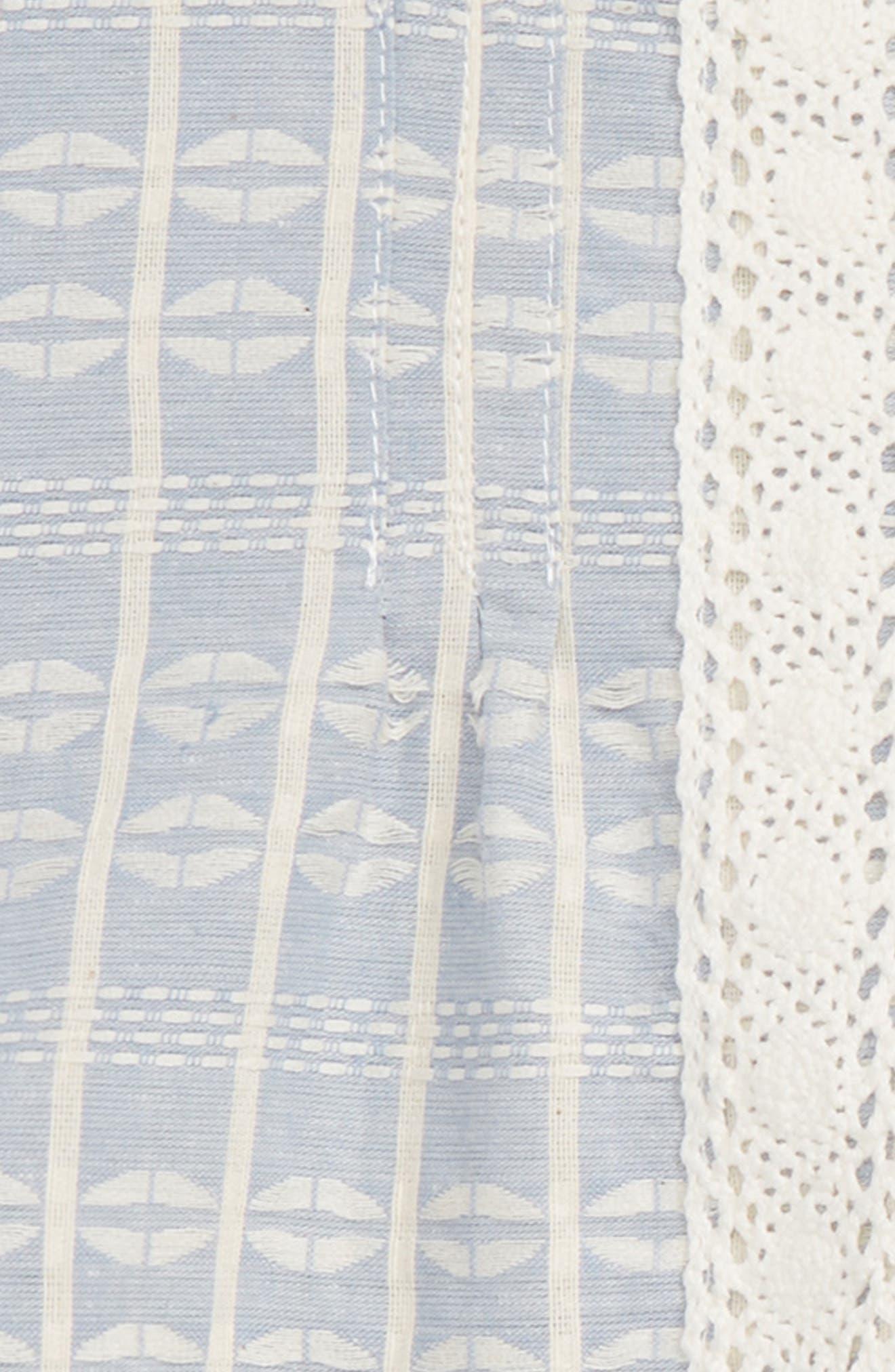 Jacquard Peplum Top & Leggings Set,                             Alternate thumbnail 2, color,                             Light Blue