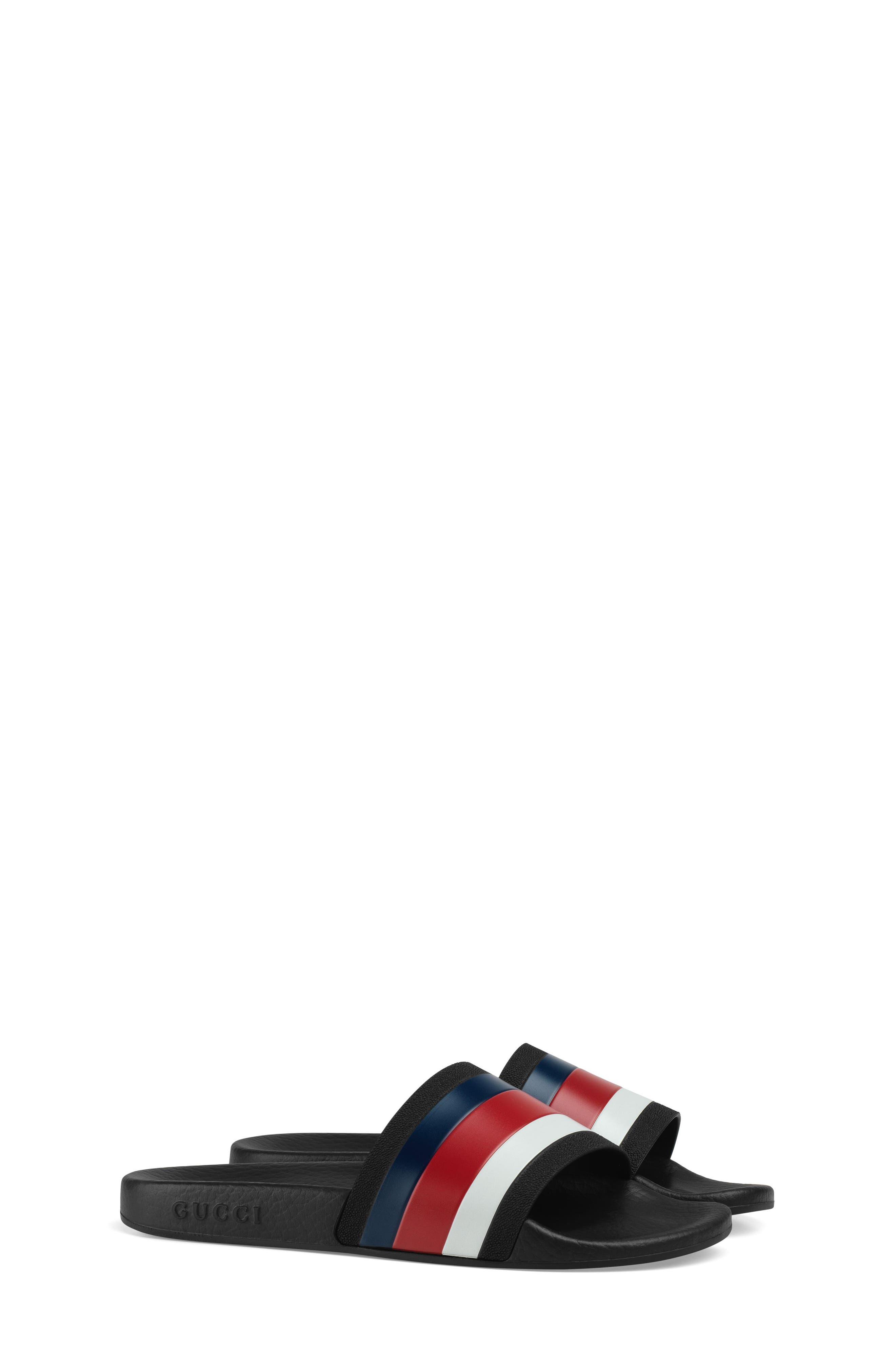 Pursuit Slide Sandal,                             Main thumbnail 1, color,                             Red/ White/ Blue
