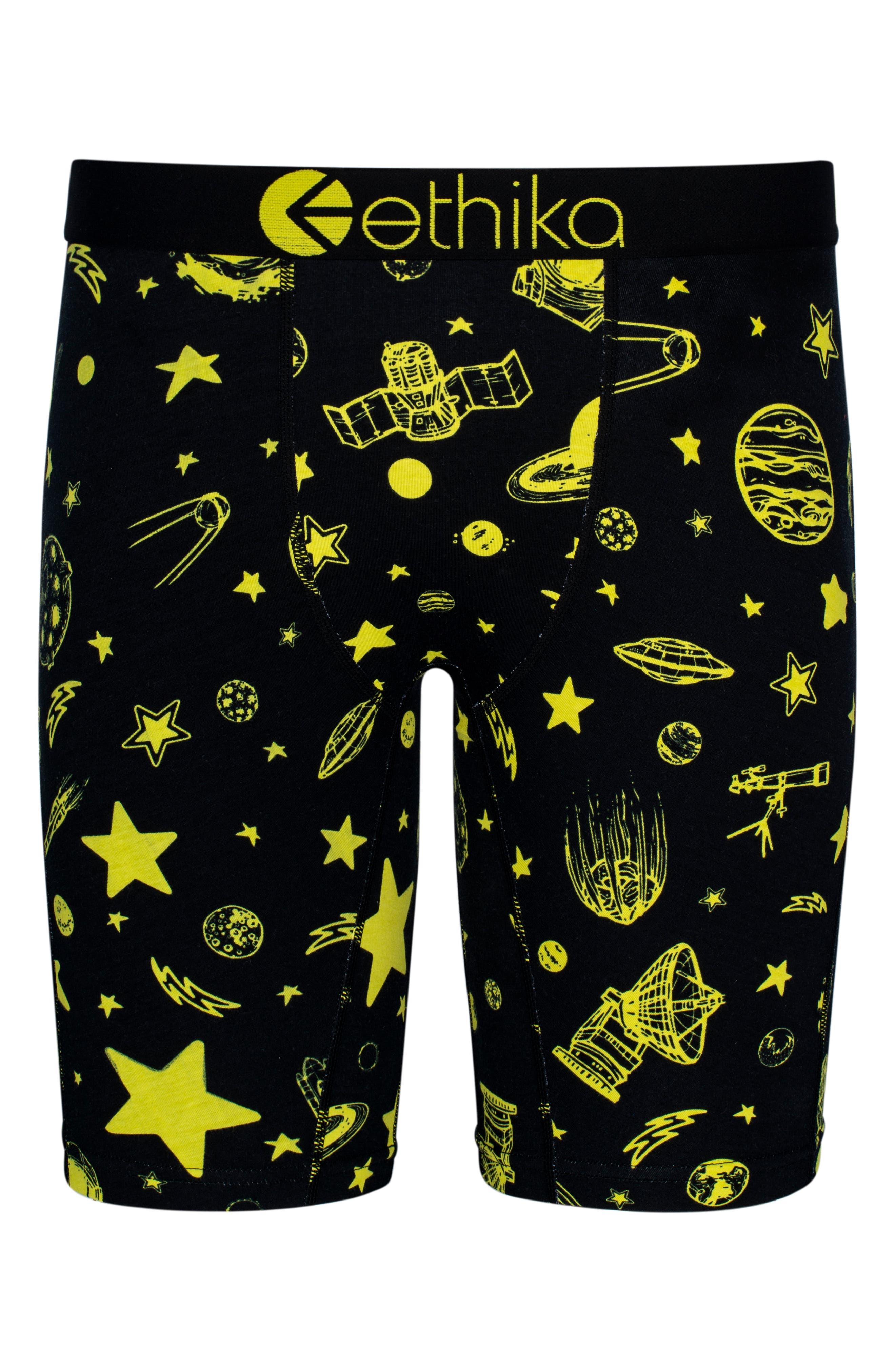 Ceiling Stars Stretch Boxer Briefs,                             Main thumbnail 1, color,                             Black
