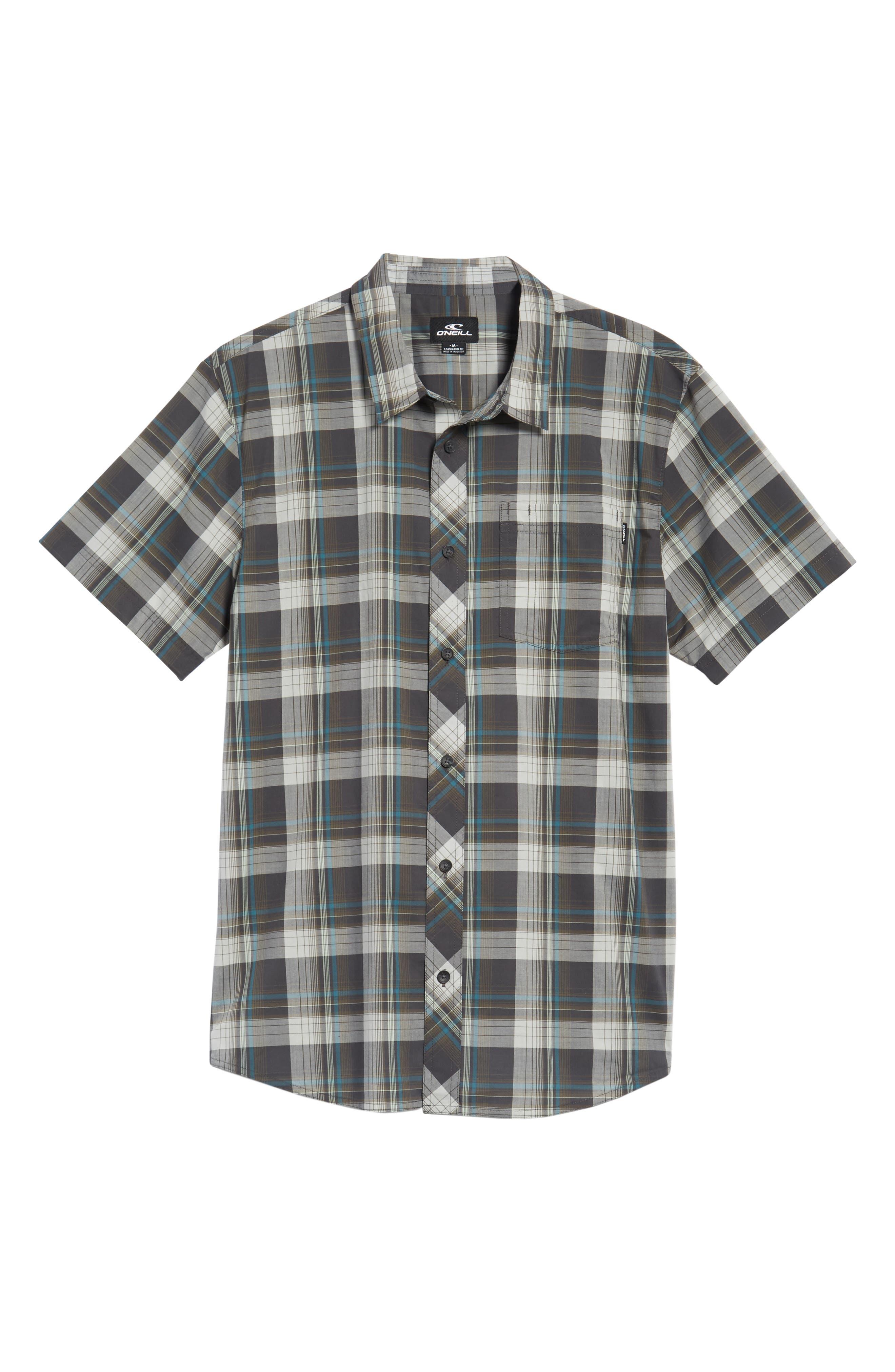 Gentry Short Sleeve Shirt,                             Alternate thumbnail 6, color,                             Asphalt