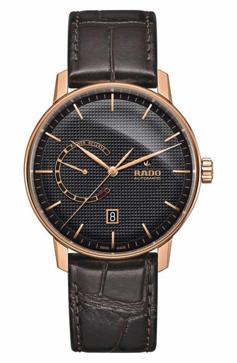 71e0814e4bc7 RADO Coupole Classic Automatic Leather Strap Watch