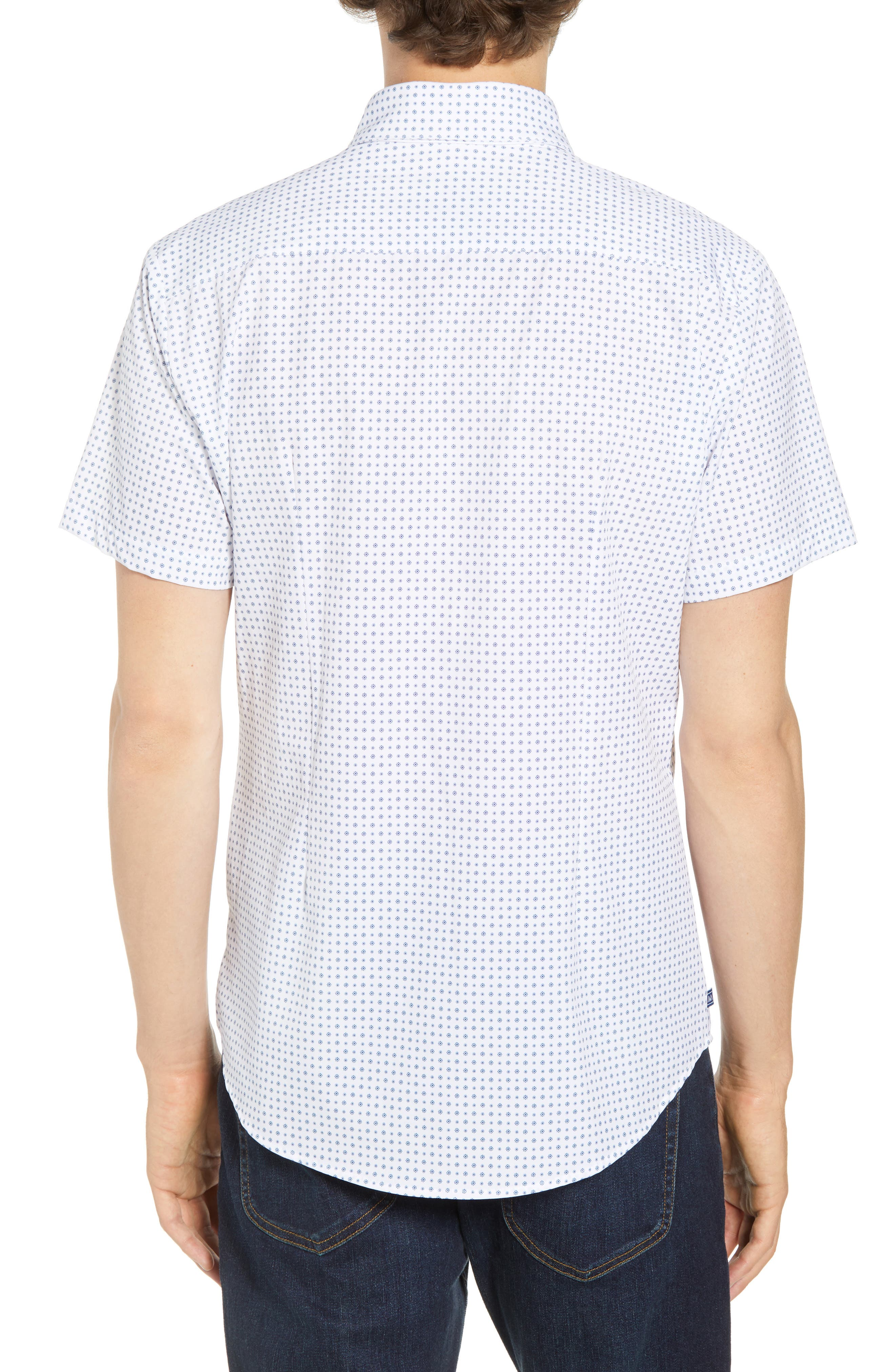 Darst Slim Fit Performance Sport Shirt,                             Alternate thumbnail 5, color,                             White
