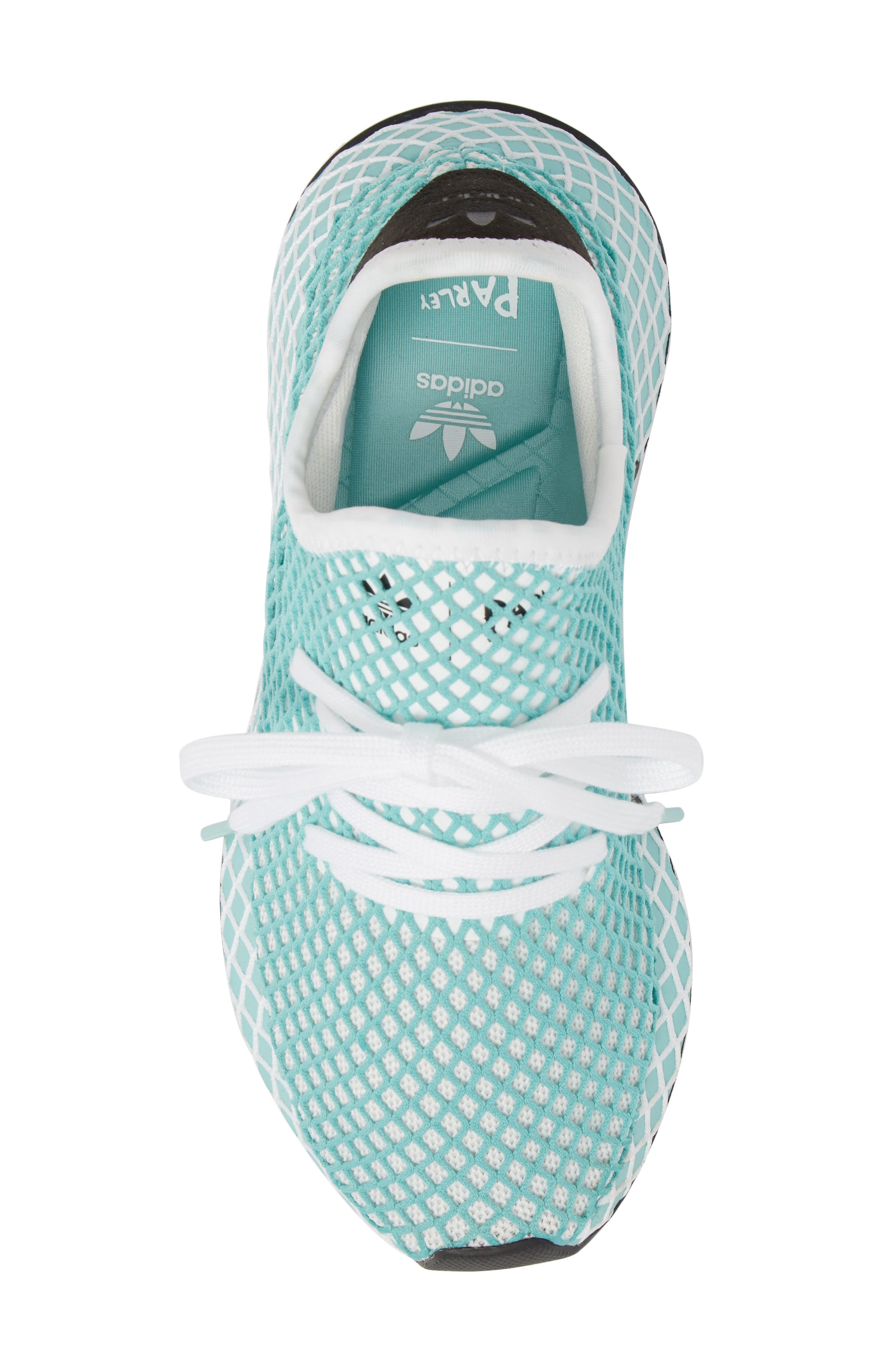 Deerupt x Parley Runner Sneaker,                             Alternate thumbnail 5, color,                             White/ White/ Blue Spirit