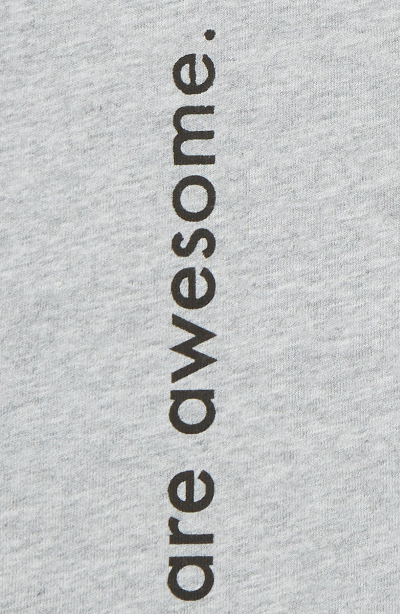 Boys are Awesome Romper,                             Alternate thumbnail 3, color,                             Grey