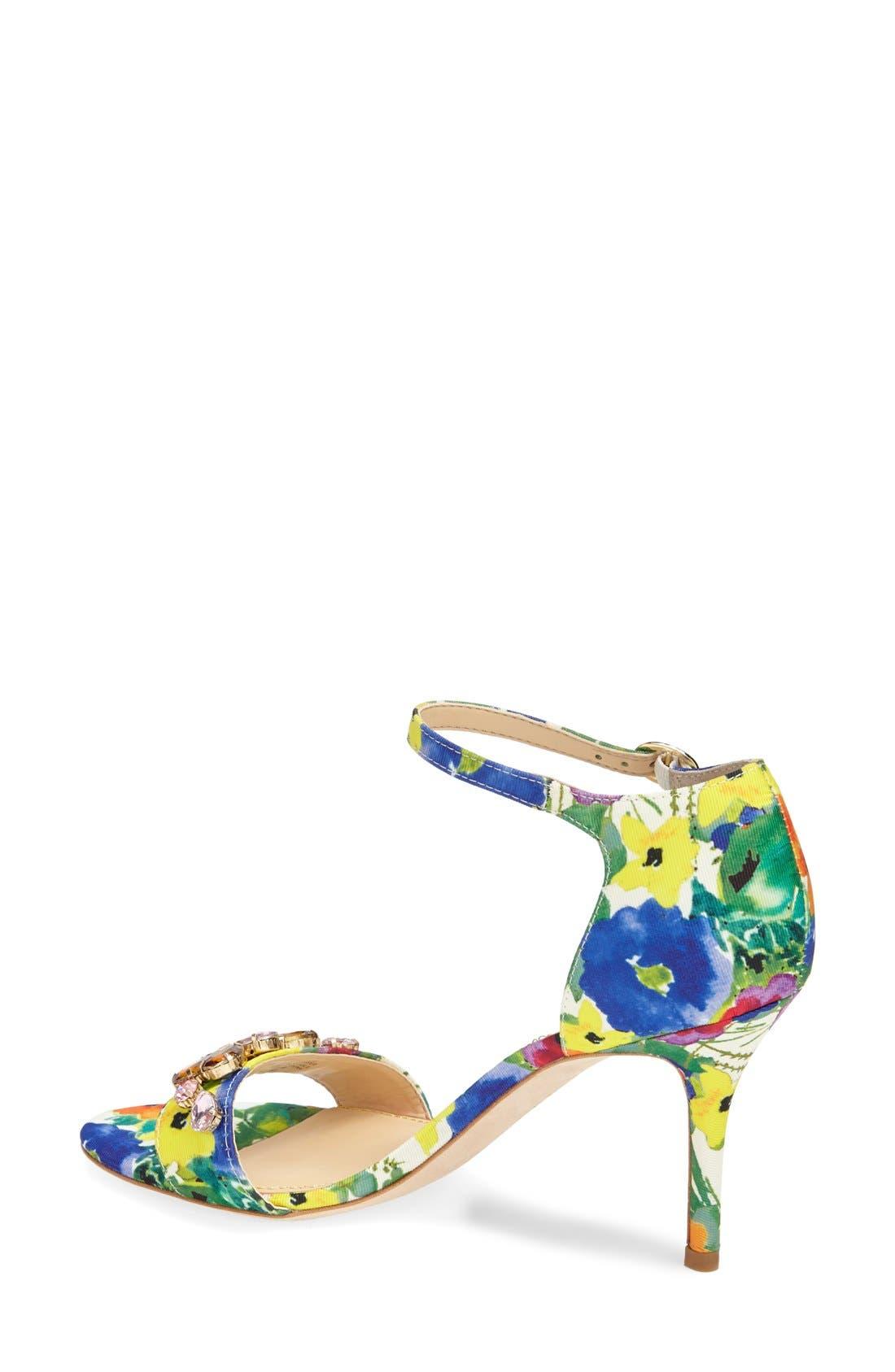Alternate Image 2  - Ivanka Trump 'Gessa' Crystal Embellished Print Sandal (Women)