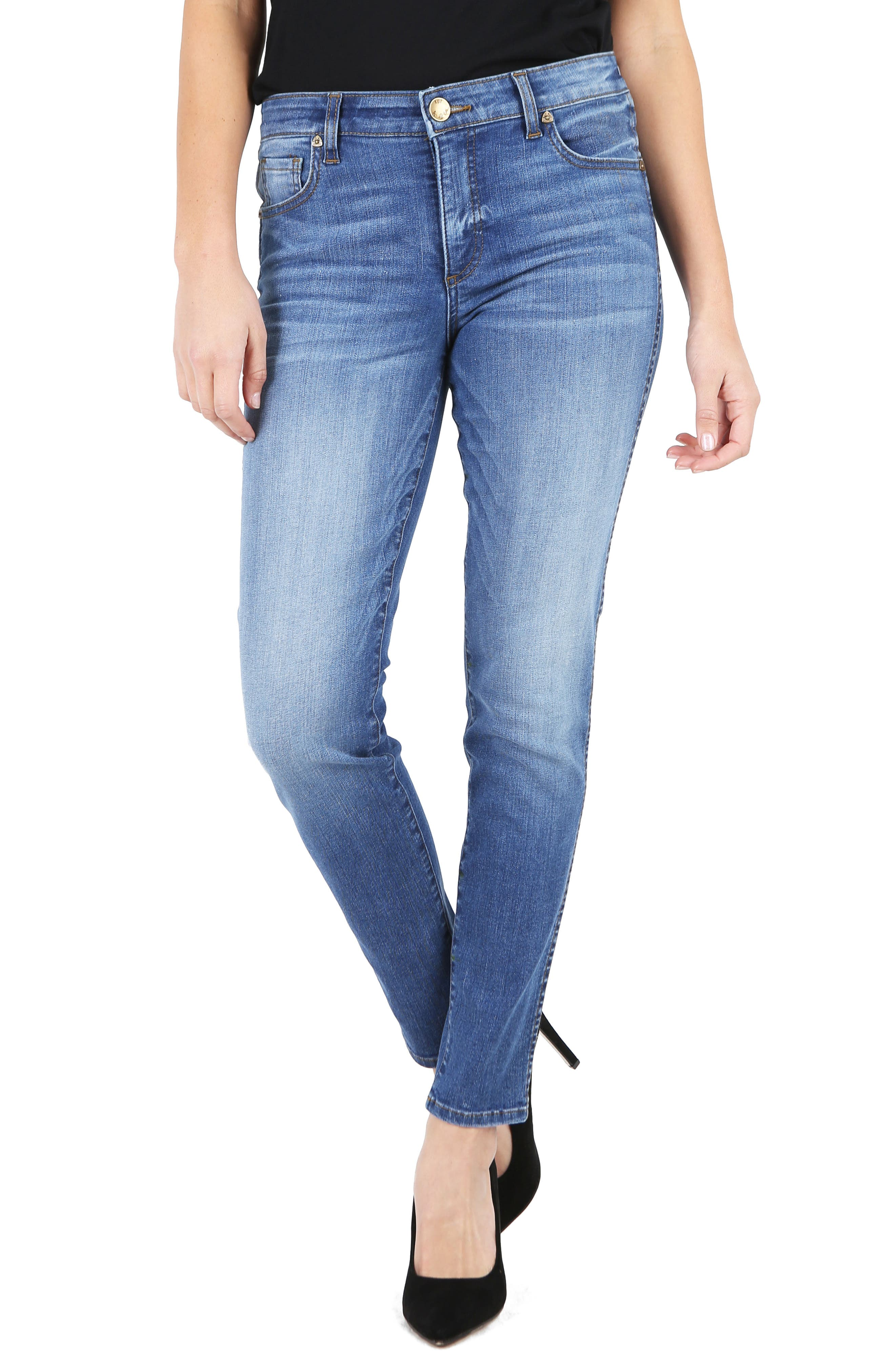 KUT from the Kloth Diana Fab Ab Fit Solution Skinny Jeans,                         Main,                         color, Meditate