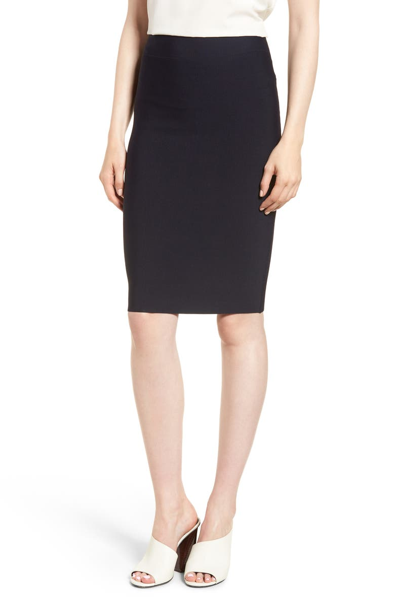Poly Sci Pencil Skirt