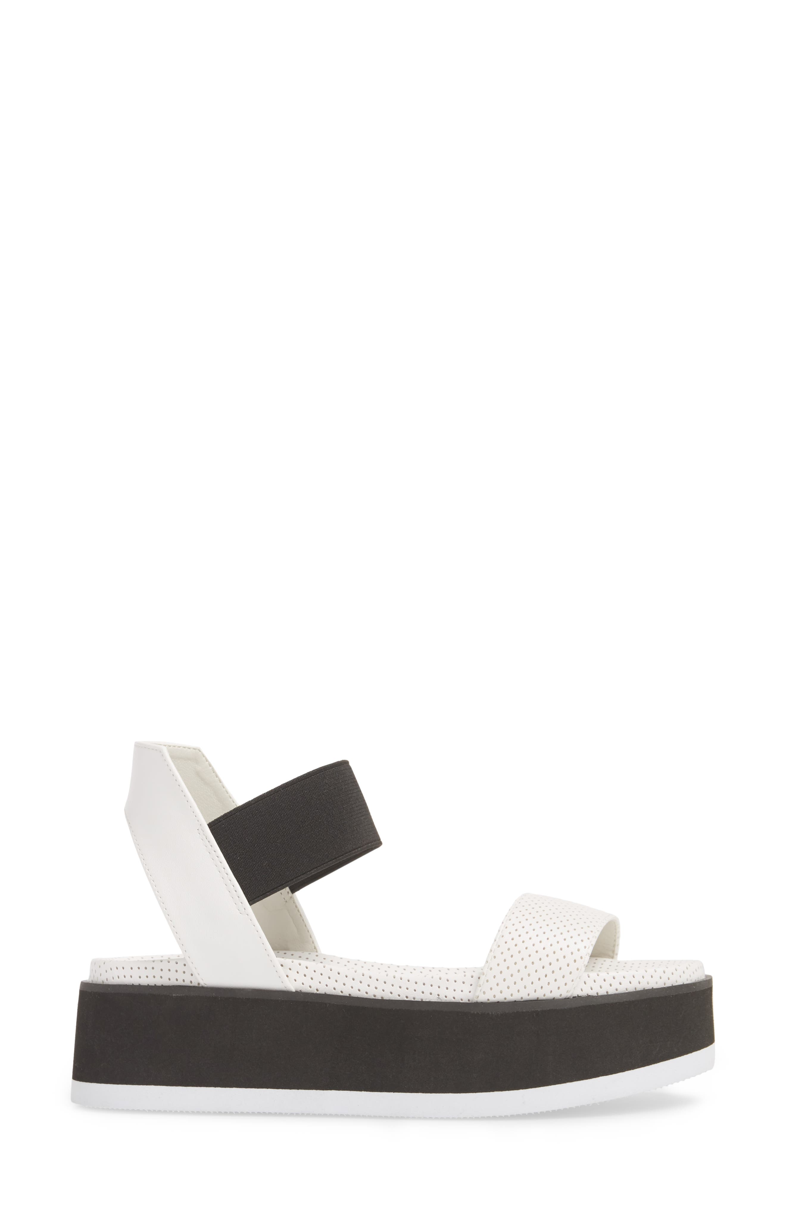 Josie Perforated Platform Sandal,                             Alternate thumbnail 6, color,                             White