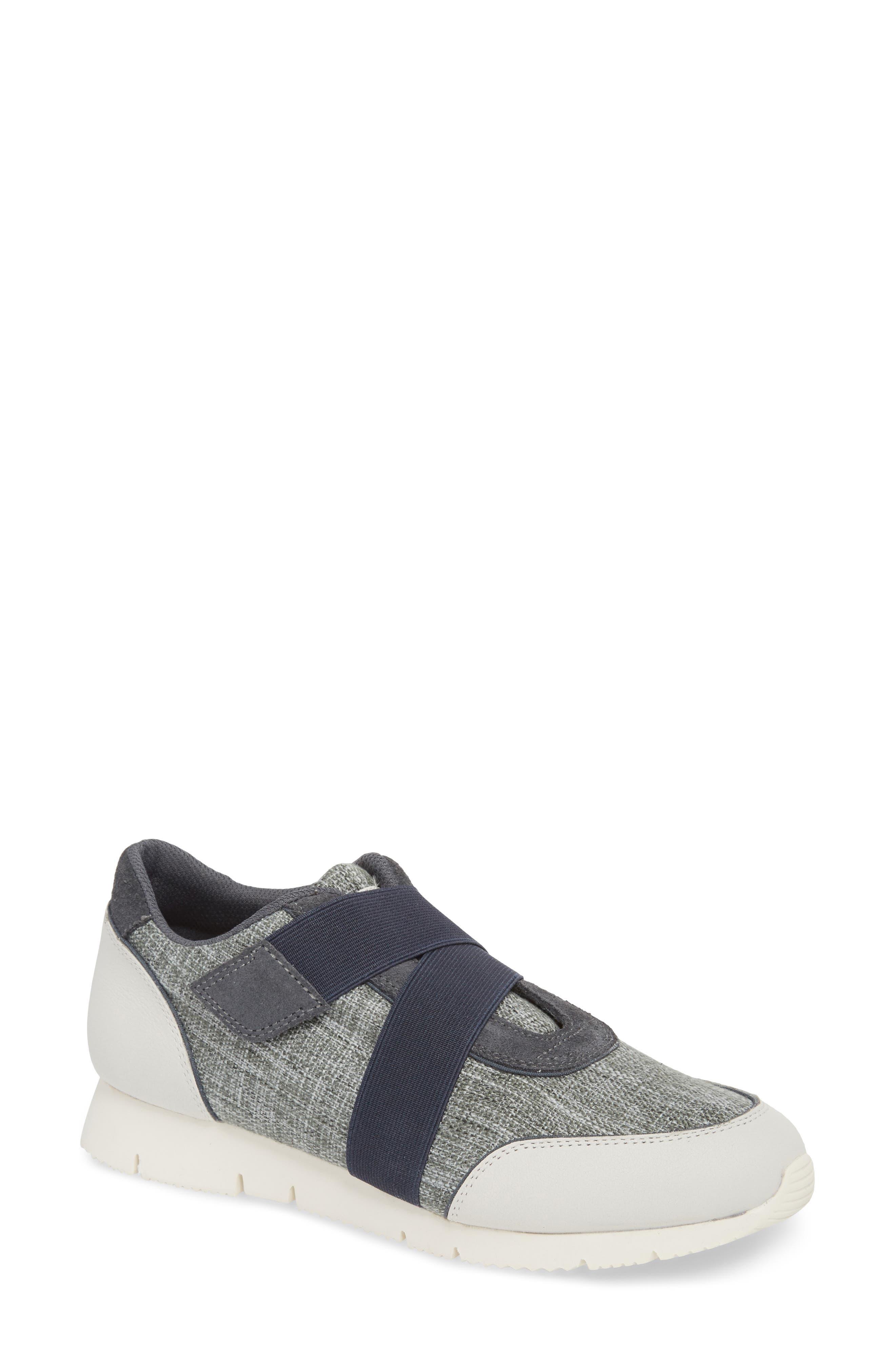 Cross Strap Sports Sneaker,                         Main,                         color, Blue/ White