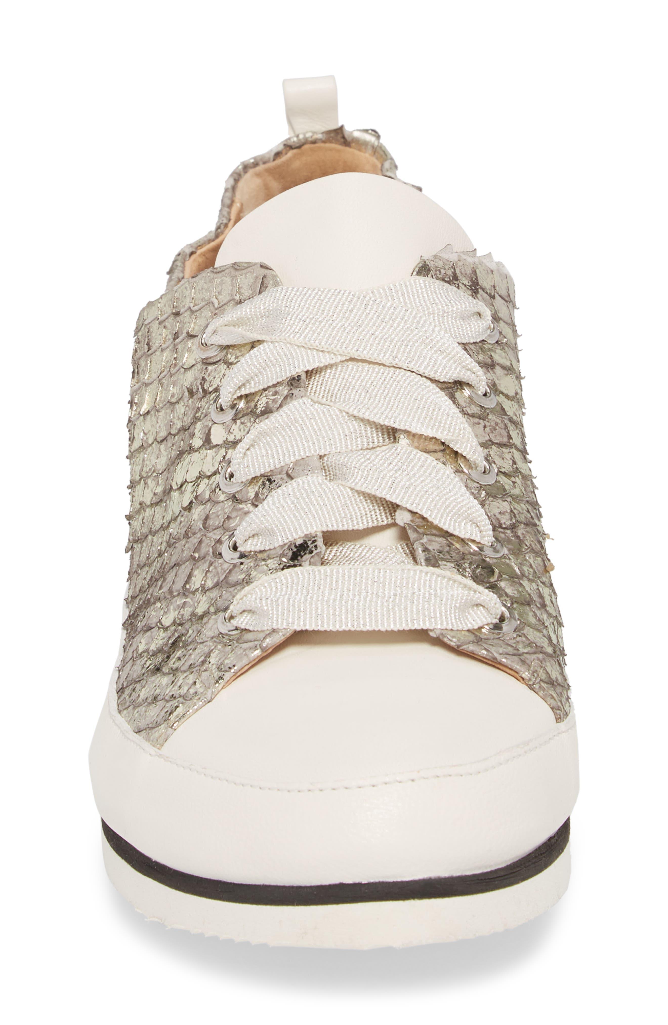 Nova Sneaker,                             Alternate thumbnail 4, color,                             Pewter Leather