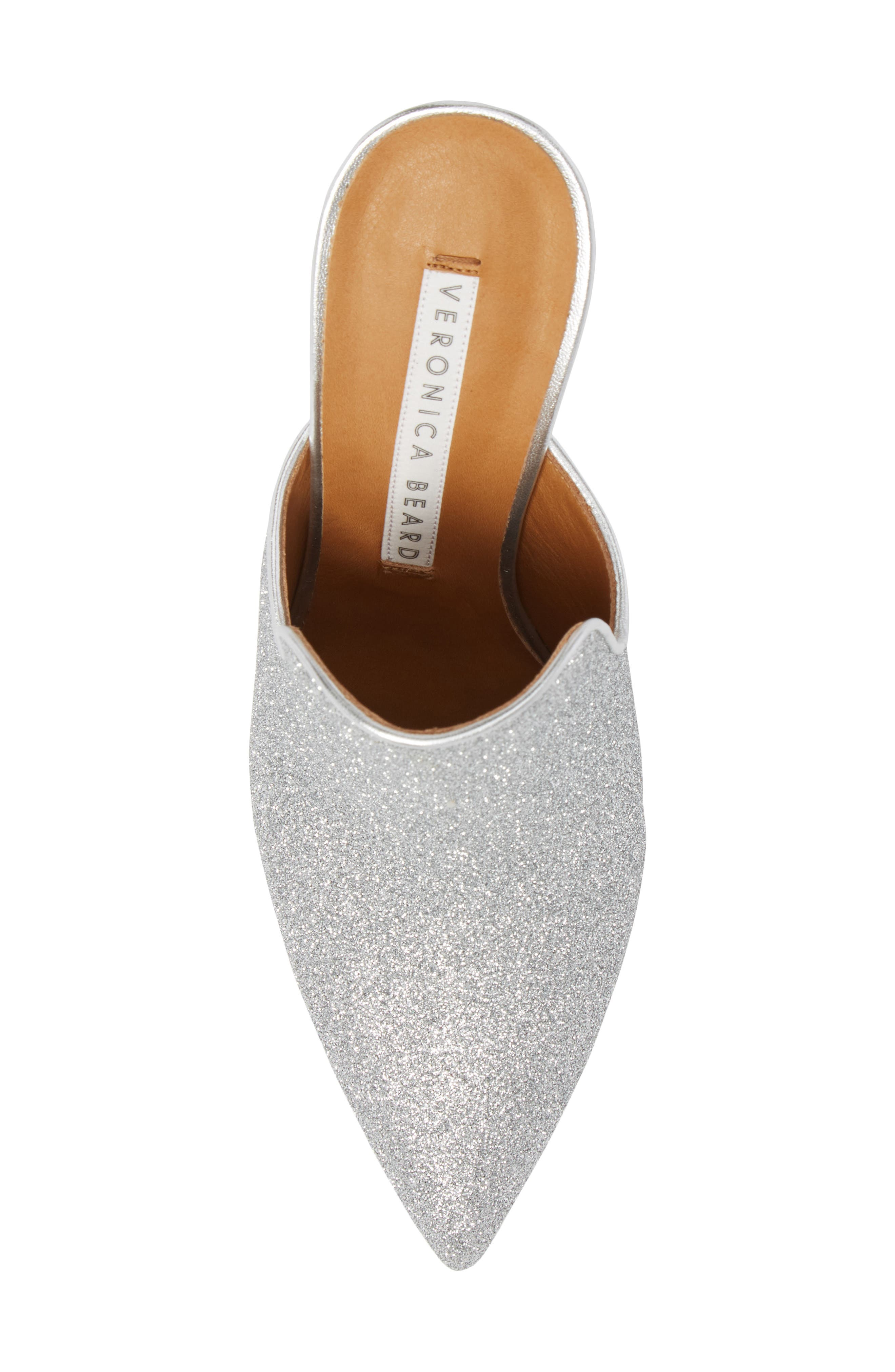 Penn Pointy Toe Mule,                             Alternate thumbnail 6, color,                             Silver