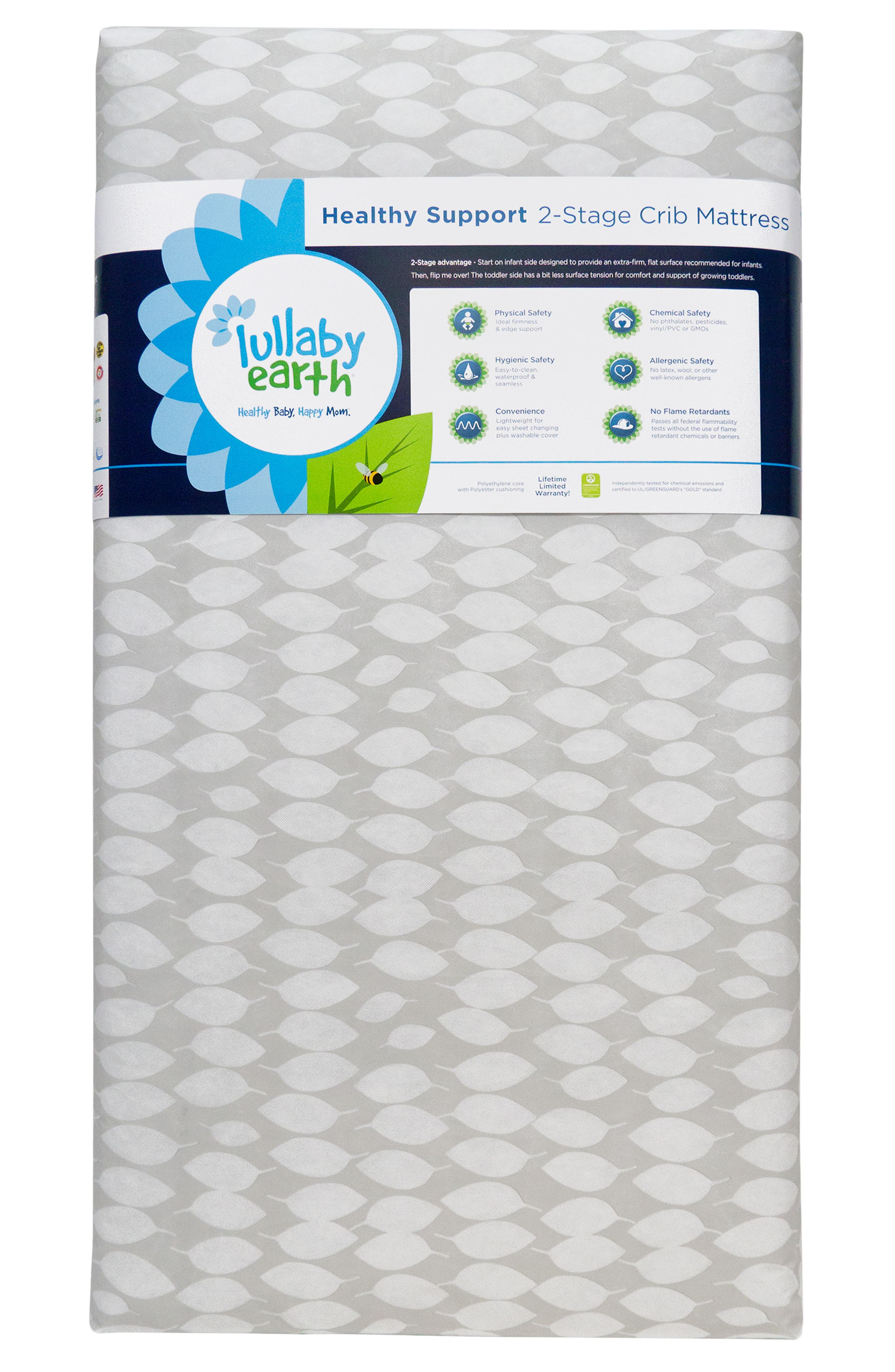 Healthy Support 2-Stage Crib Mattress,                             Main thumbnail 1, color,                             Grey/White