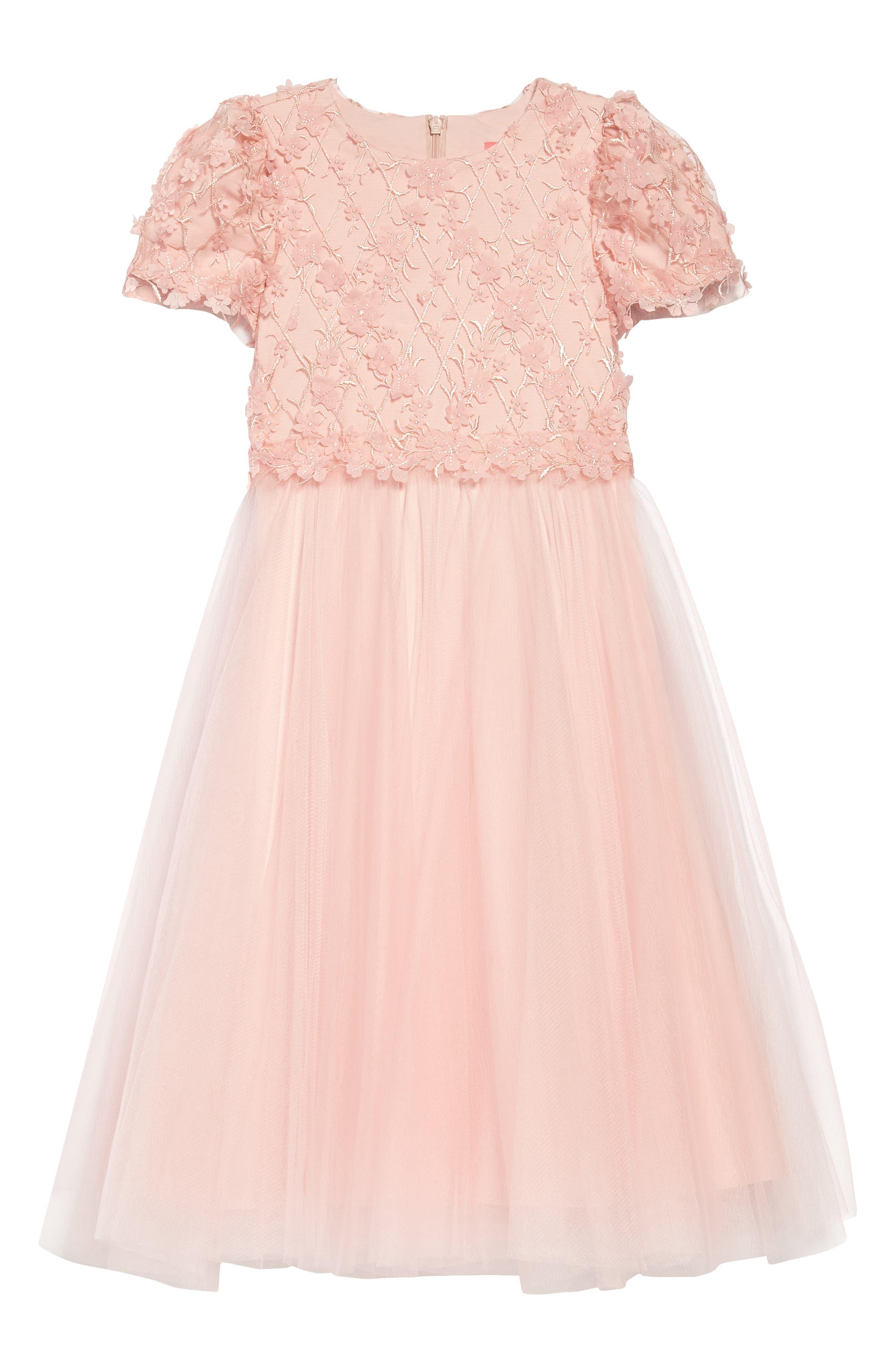 Cap Sleeve Lace Dress,                             Main thumbnail 1, color,                             Rose Quartz