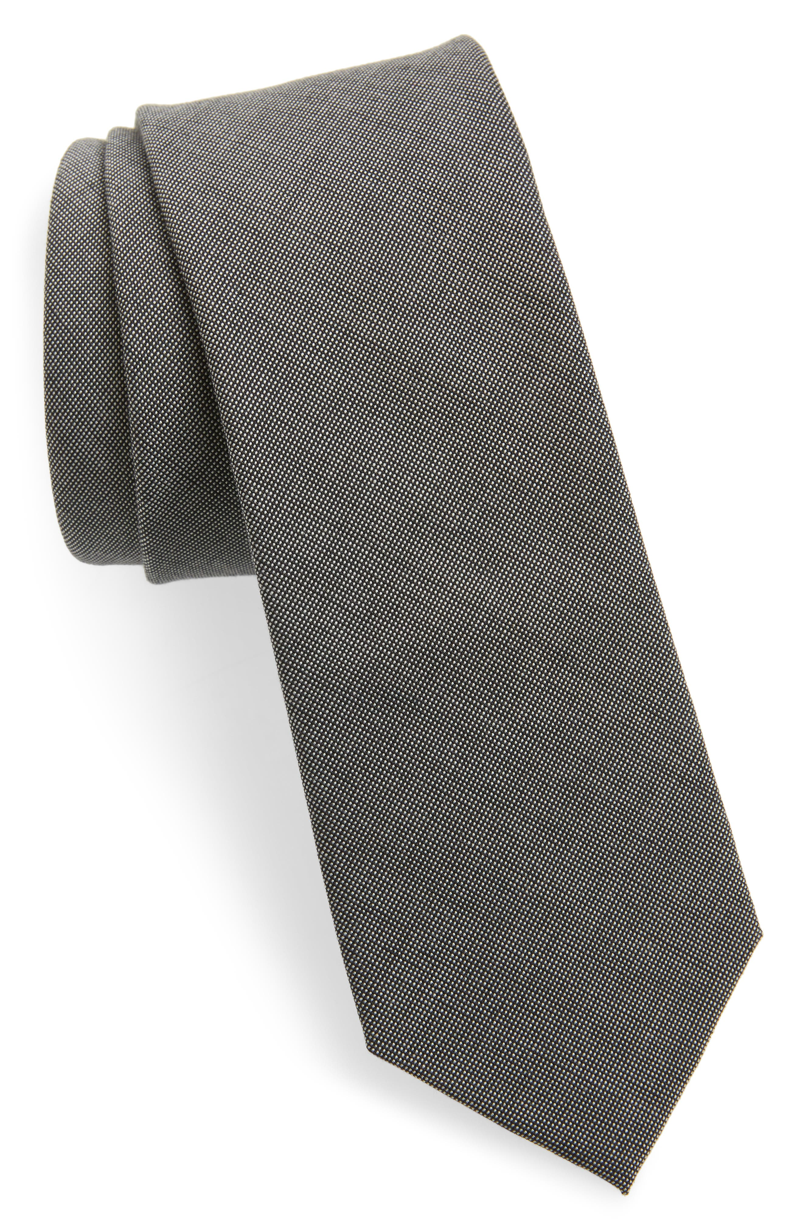Bunker Solid Tie,                         Main,                         color, Onyx