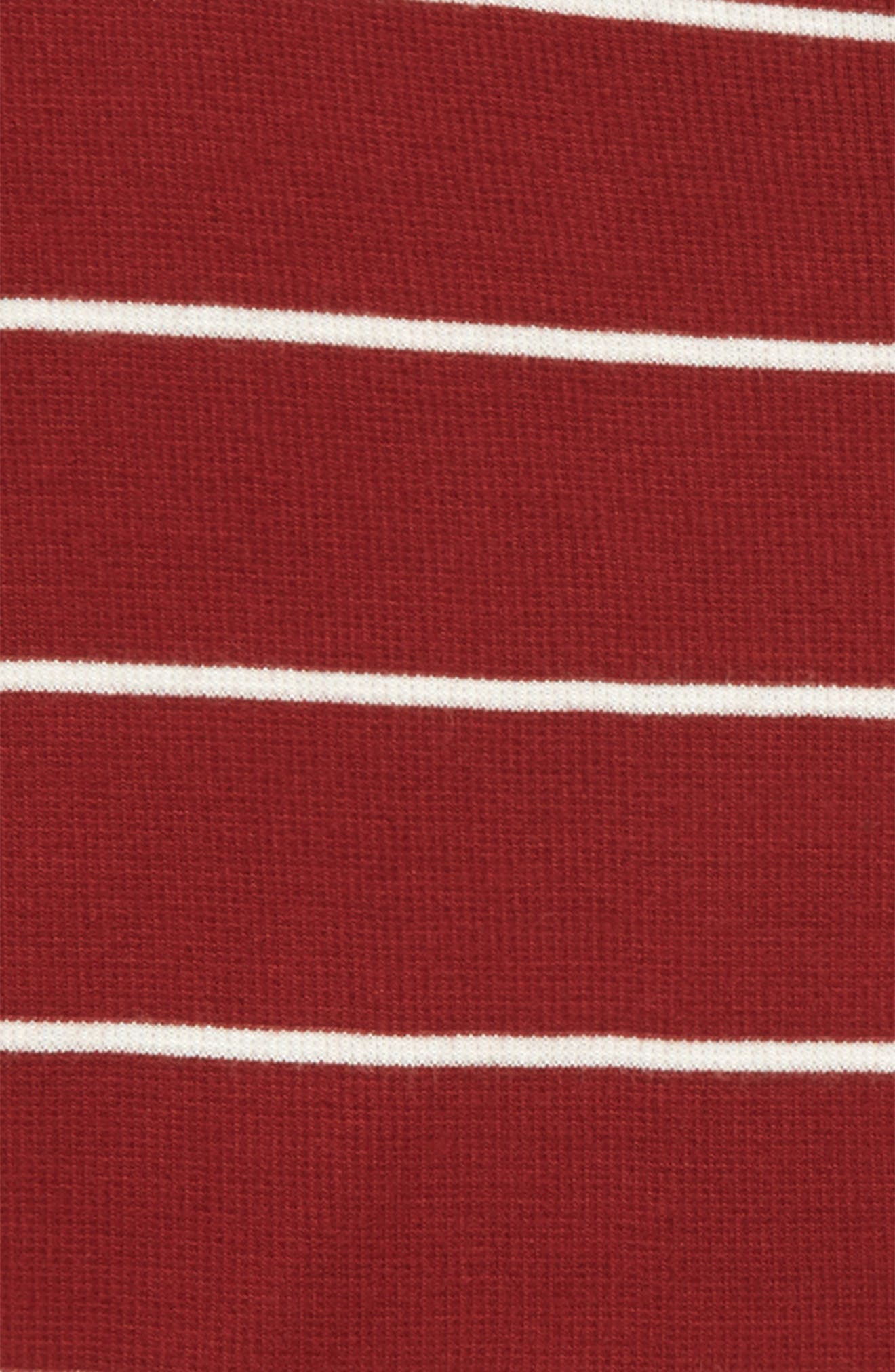 Stripe Knit Tee,                             Alternate thumbnail 2, color,                             Red Rosewood- Ivory Stripe