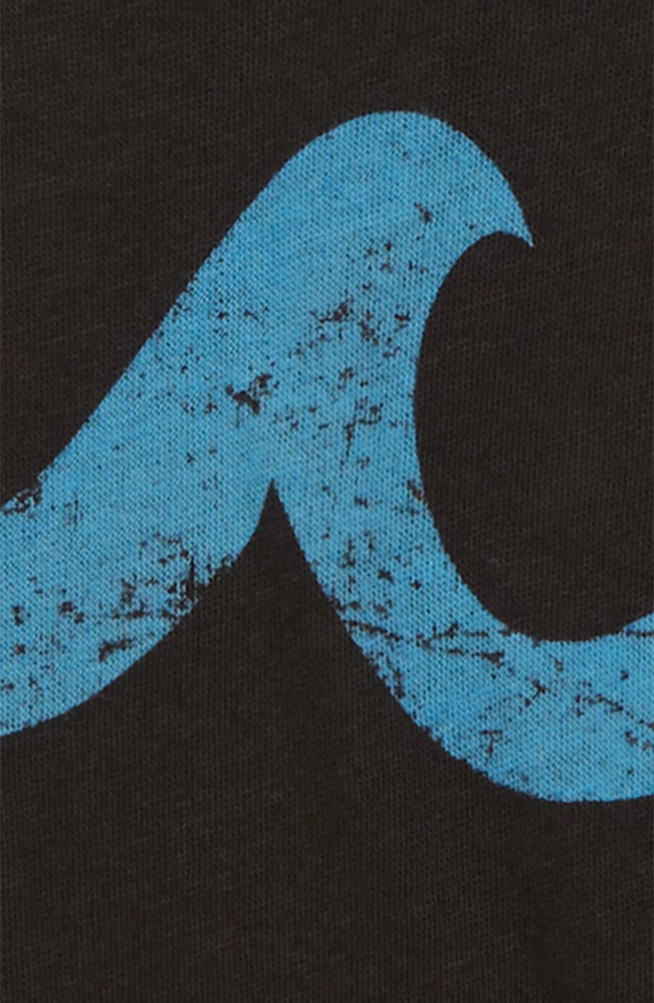 Blue Waves Graphic T-Shirt,                             Alternate thumbnail 2, color,                             Vintage Black