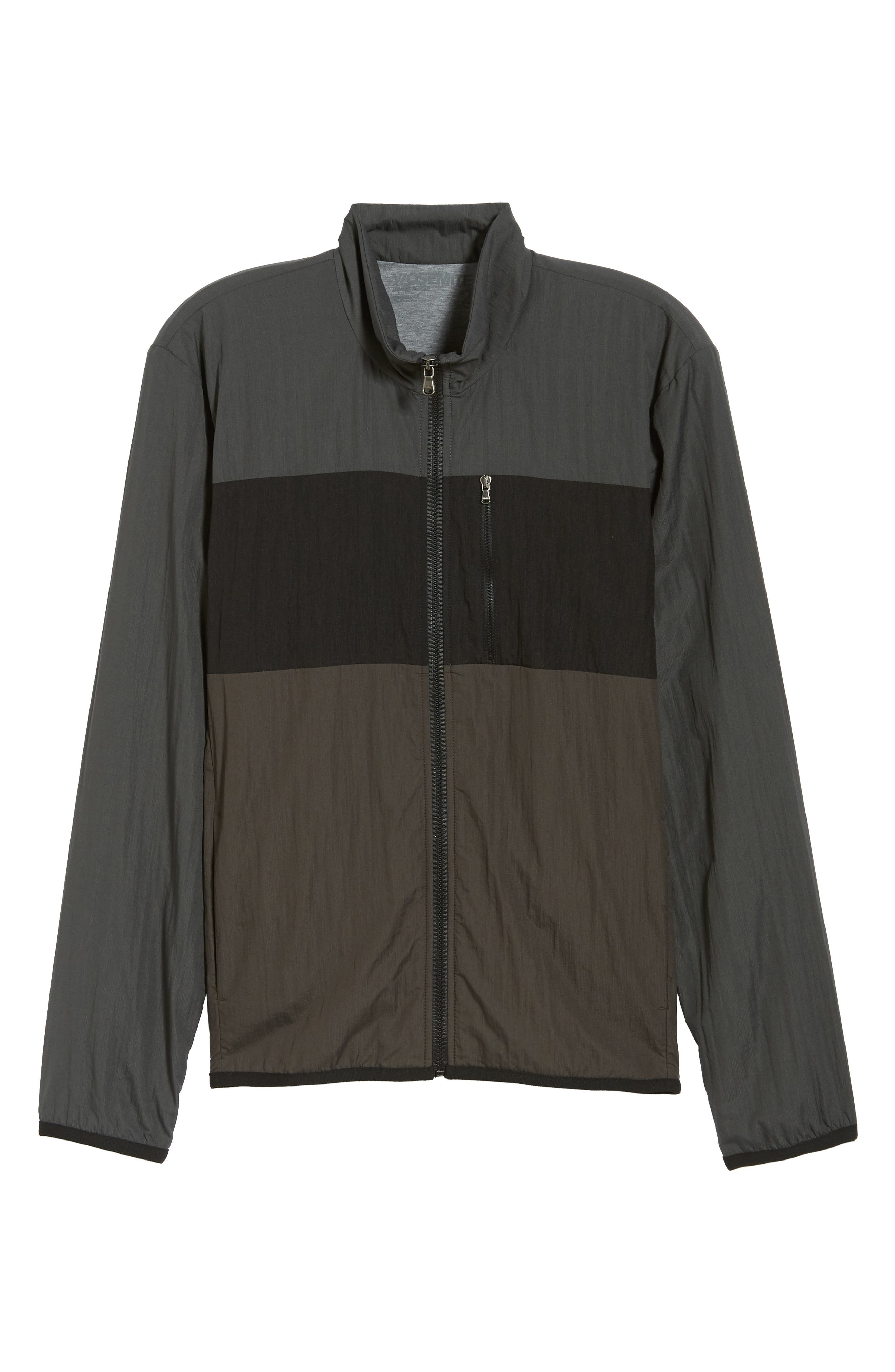 Stripe Ripstop Jacket,                             Alternate thumbnail 6, color,                             Pipe/ Black/ Abyss