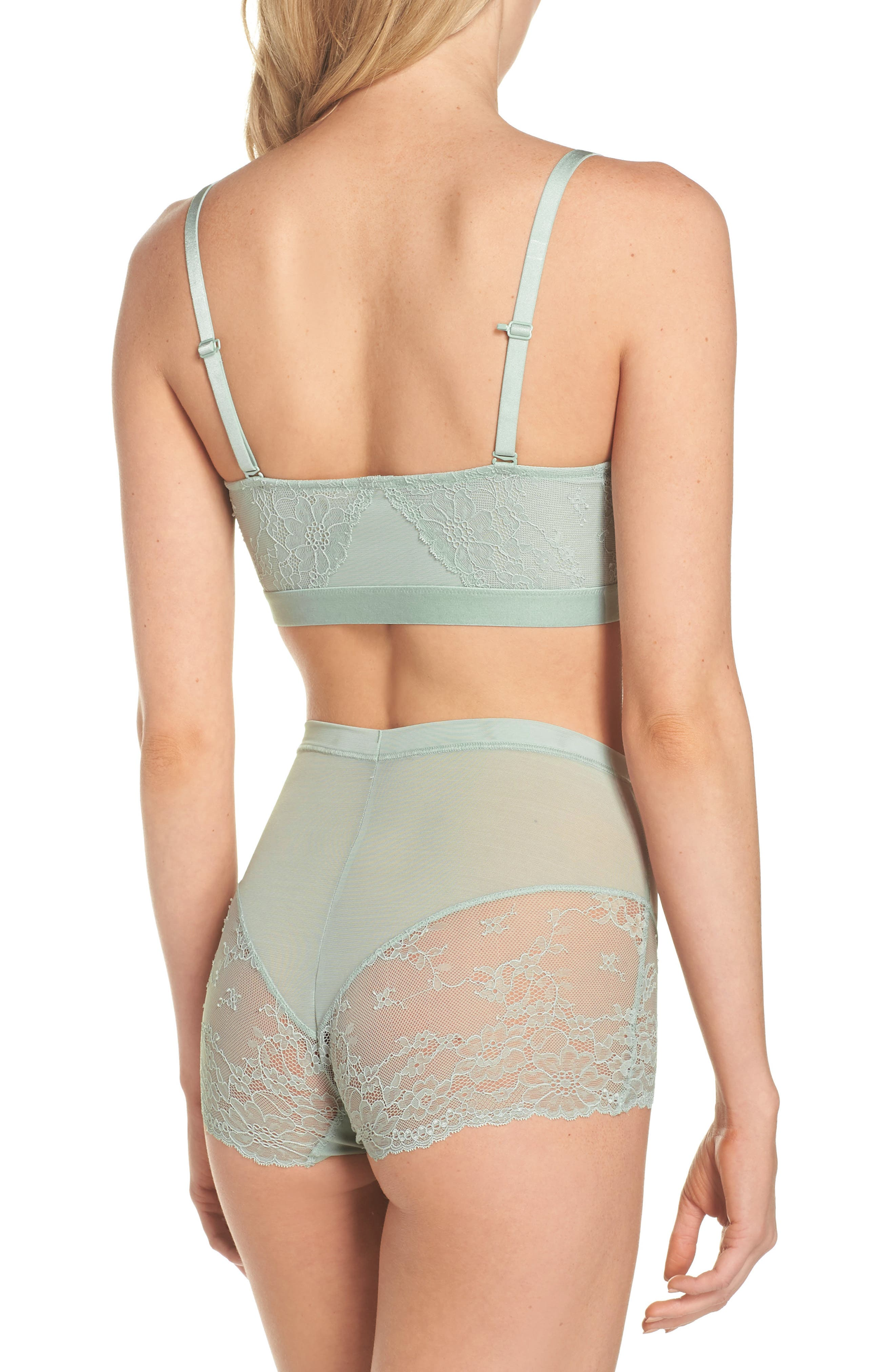 Spotlight On Lace Briefs,                             Alternate thumbnail 5, color,                             Seafoam Green