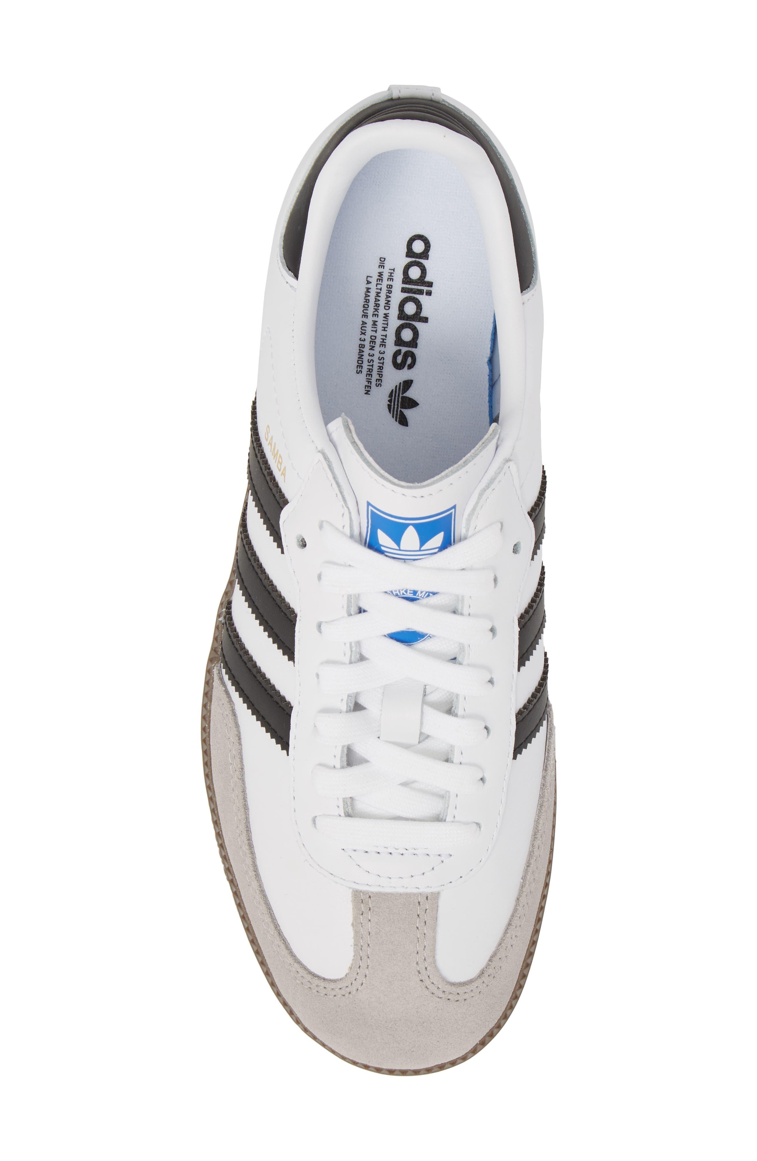 'Samba' Sneaker,                             Alternate thumbnail 5, color,                             White/ Black/ Clear Granite