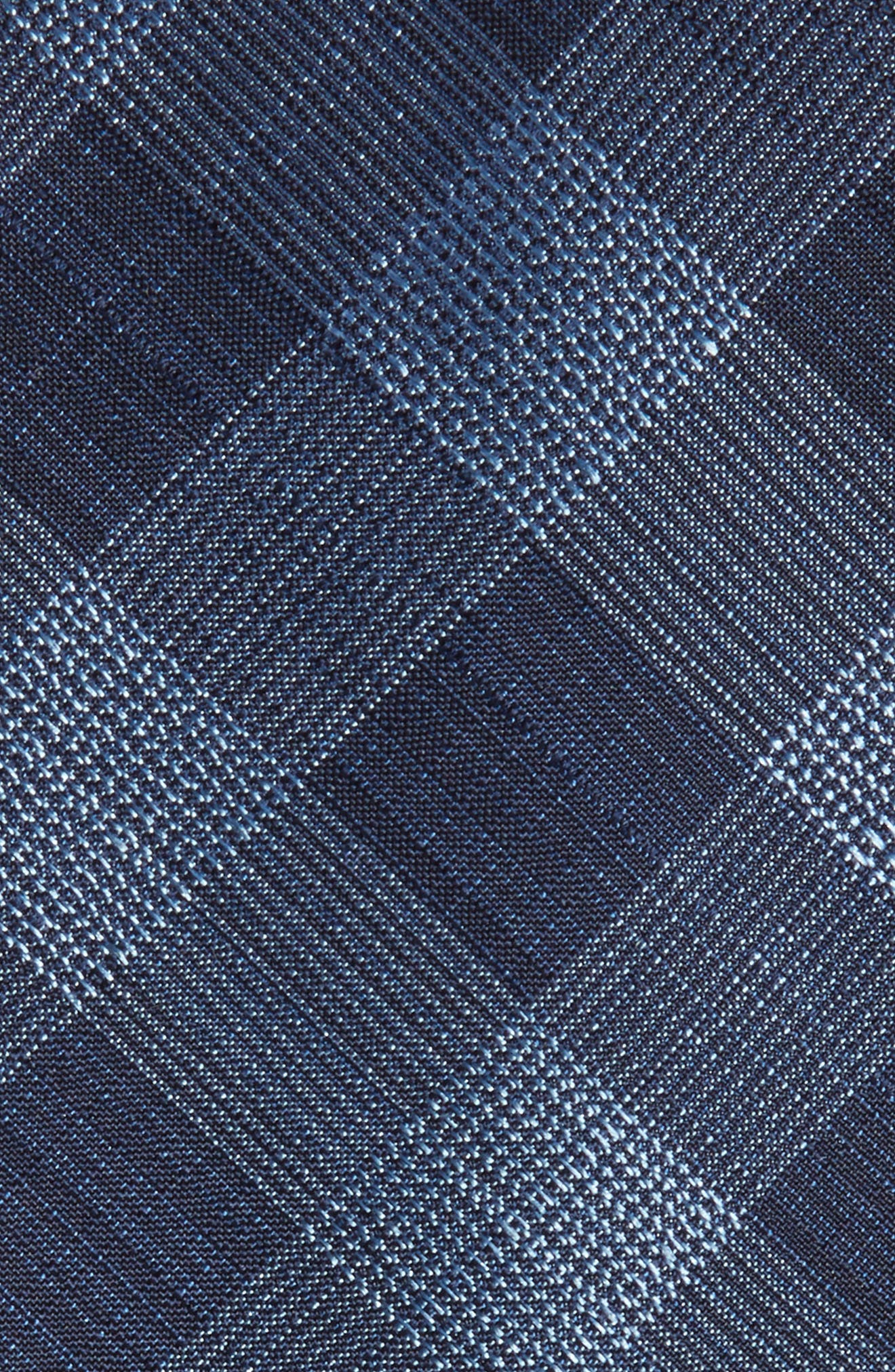 Raymer Check Silk Tie,                             Alternate thumbnail 2, color,                             Navy