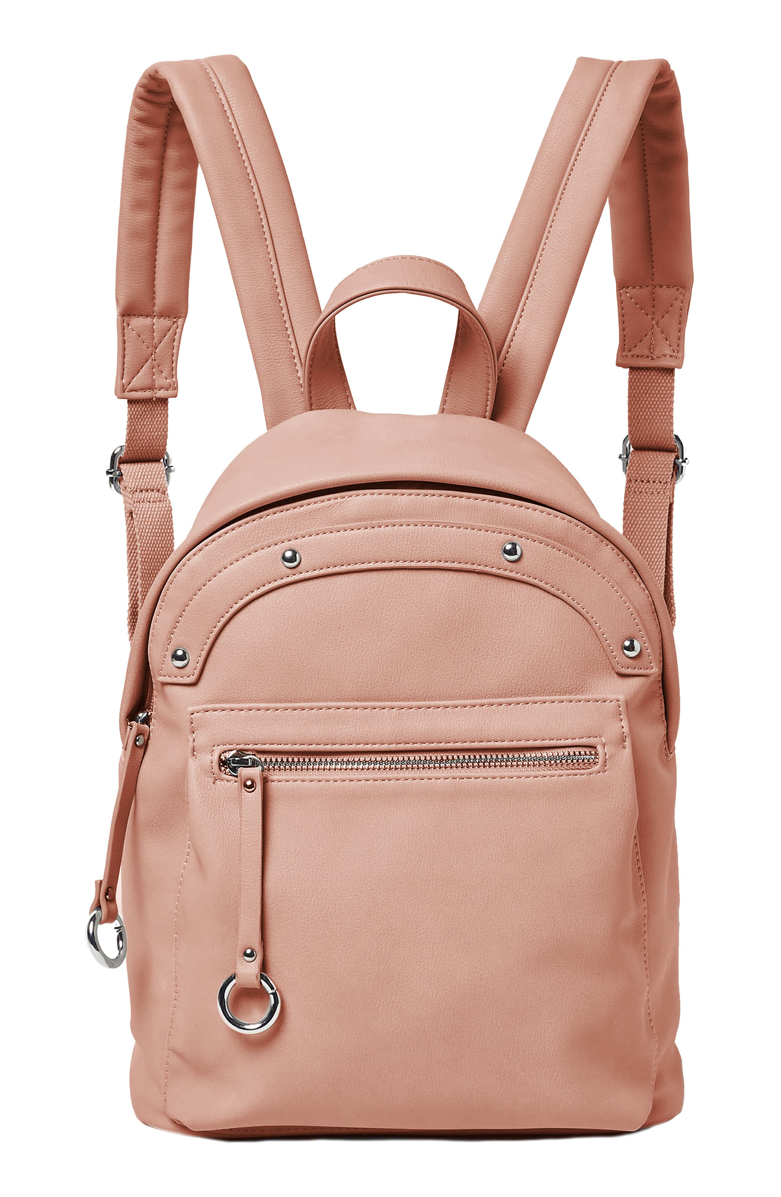 VEGAN LEATHER SUNNY DAY BACKPACK - BEIGE