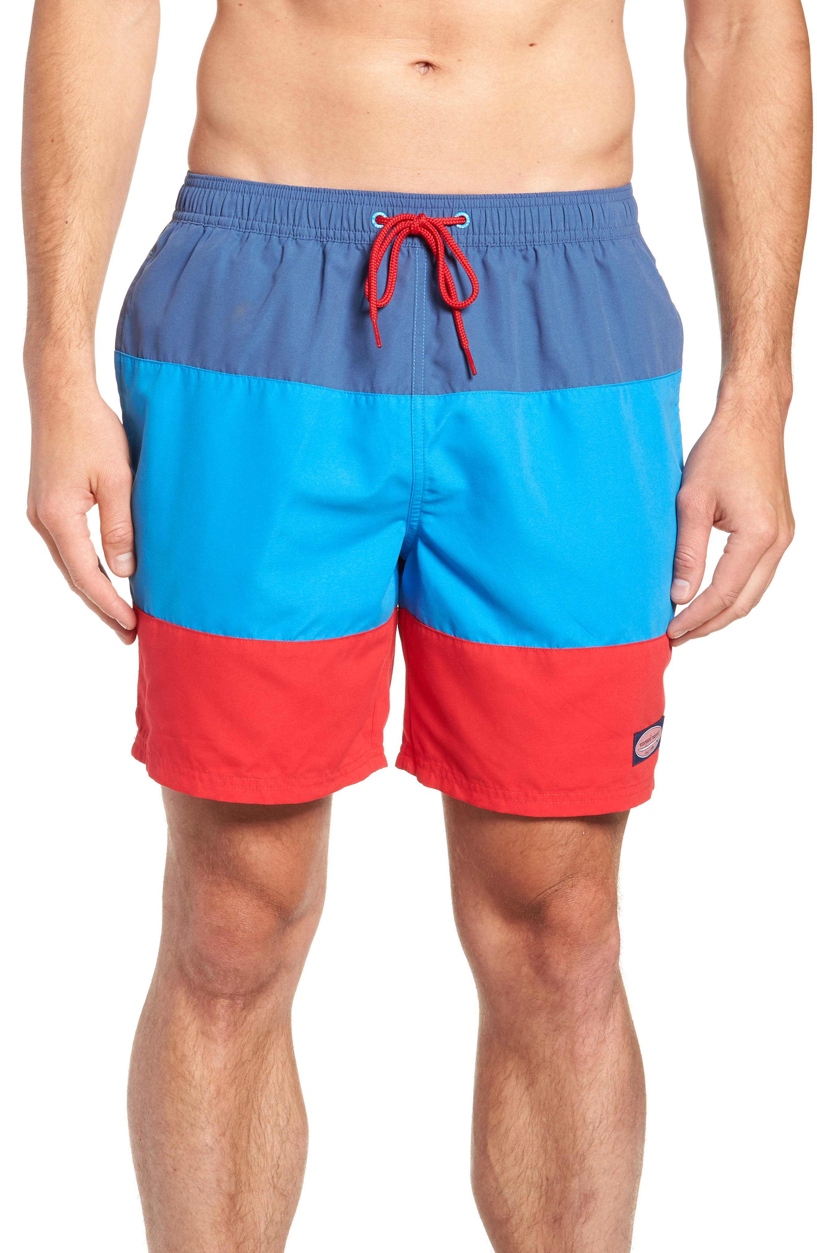 Chappy Pieced Swim Trunks,                         Main,                         color, Moonshine