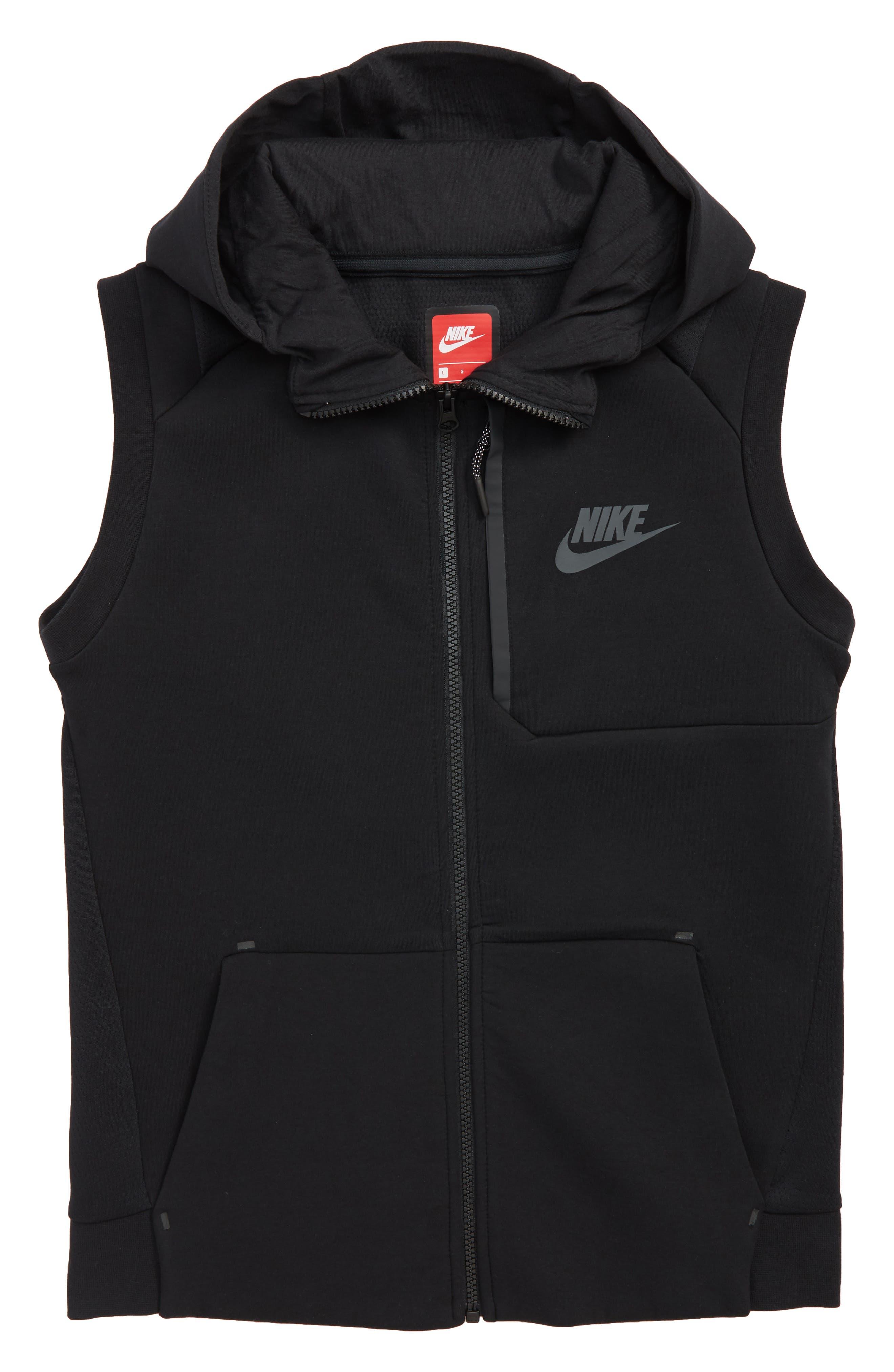Sportswear Tech Fleece Hooded Vest,                         Main,                         color, Black/ Anthracite