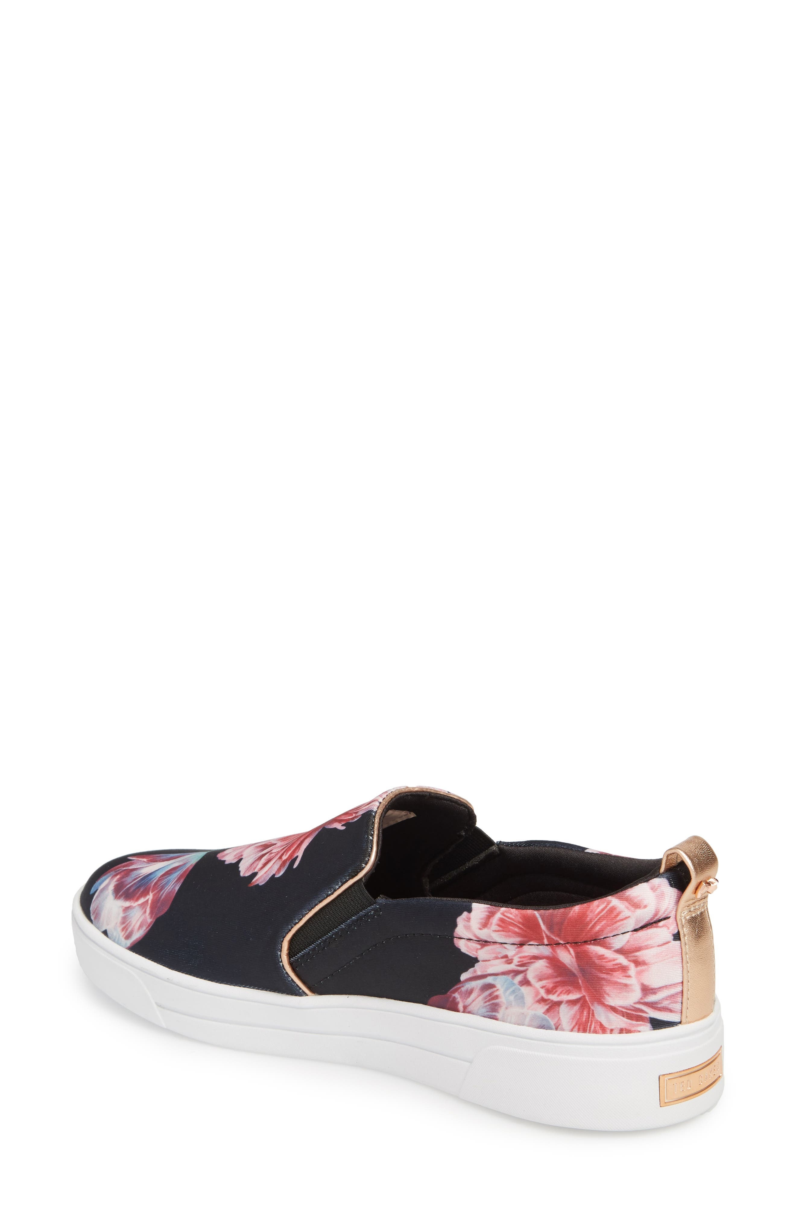 Tancey Slip-On Sneaker,                             Alternate thumbnail 2, color,                             Black Tranquility Fabric