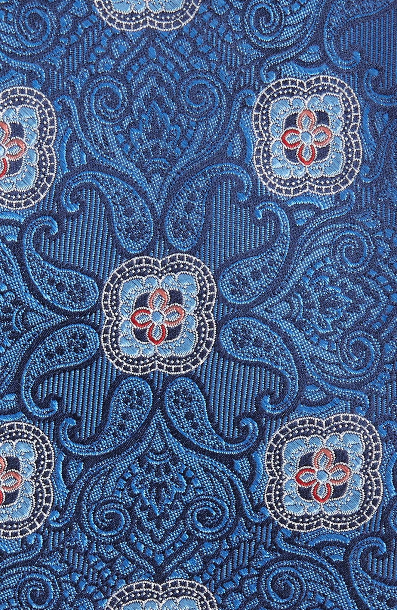 Alvarez Medallion Silk Tie,                             Alternate thumbnail 2, color,                             Blue