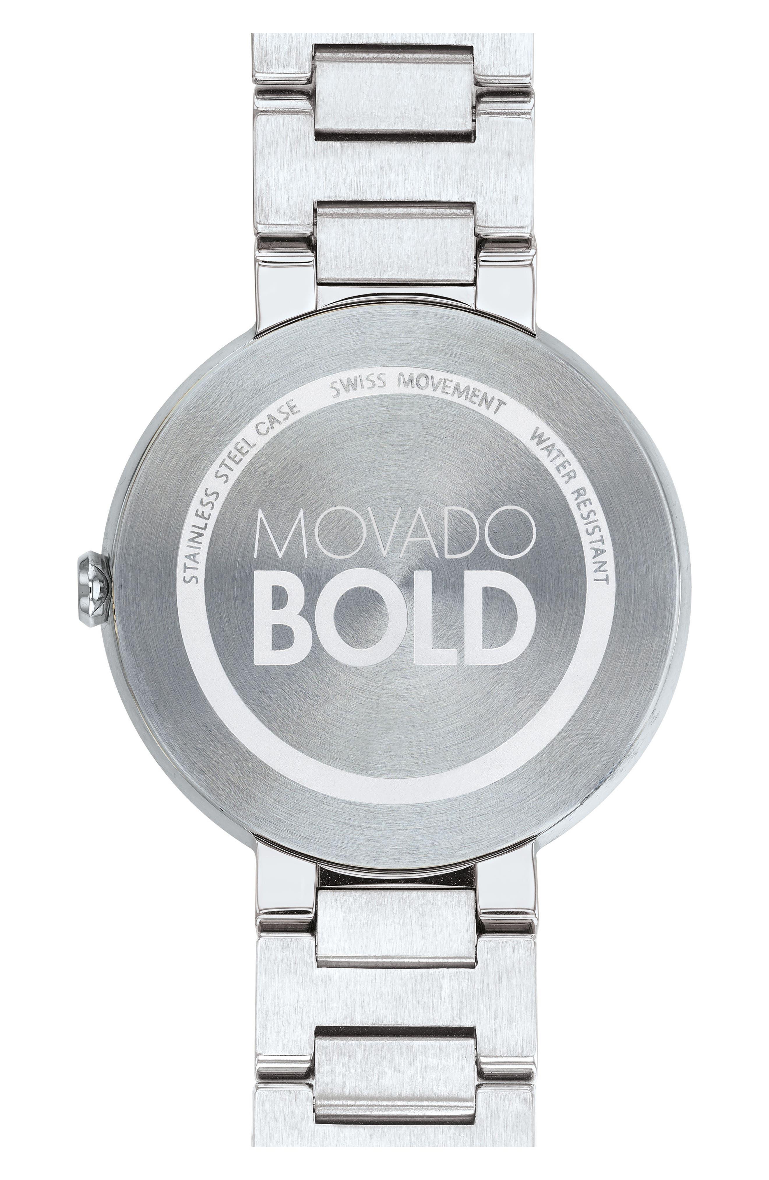 Bold Bracelet Watch, 34mm,                             Alternate thumbnail 2, color,                             Silver