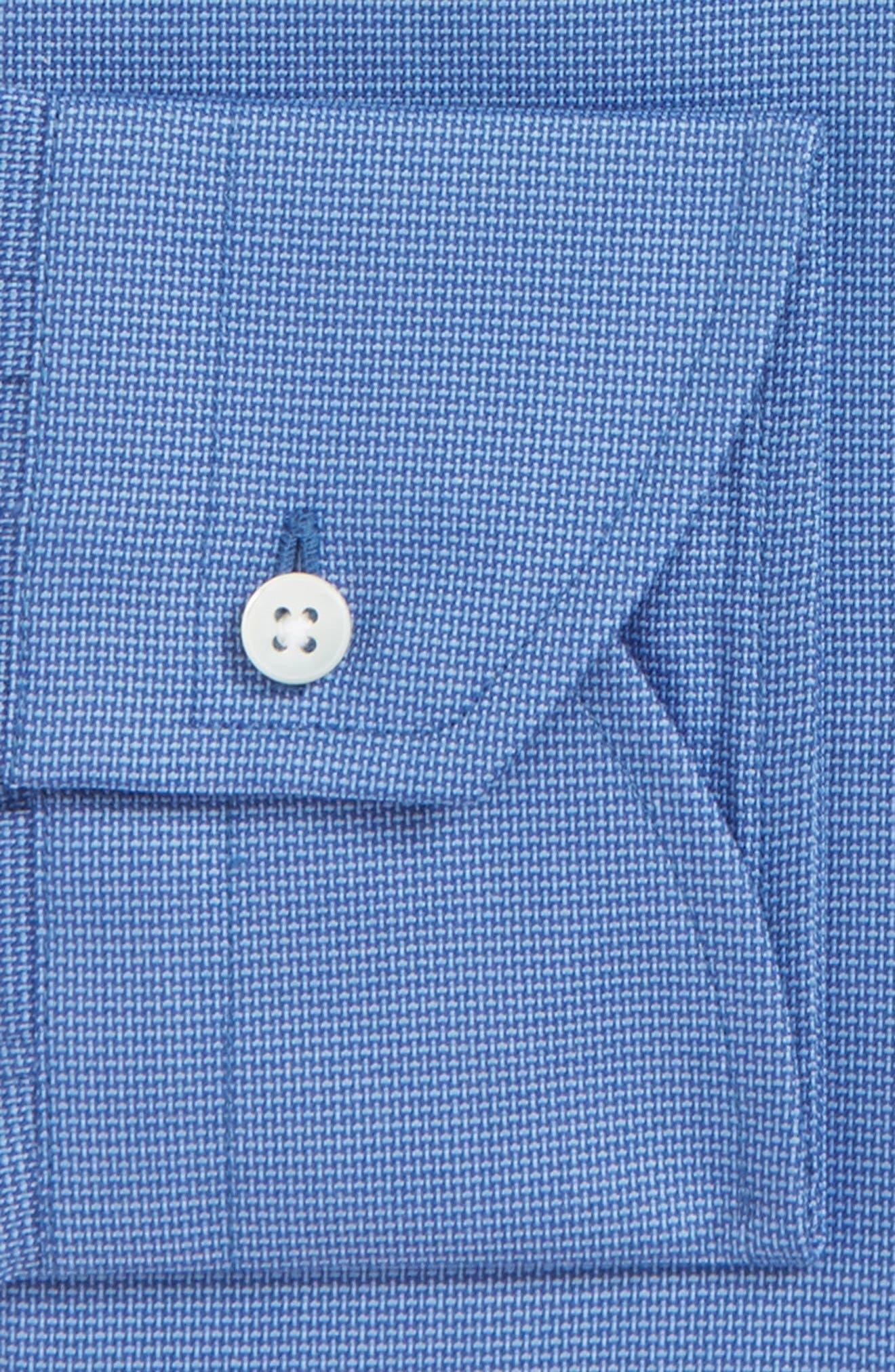 Regular Fit Dress Shirt,                             Alternate thumbnail 5, color,                             Dark Blue