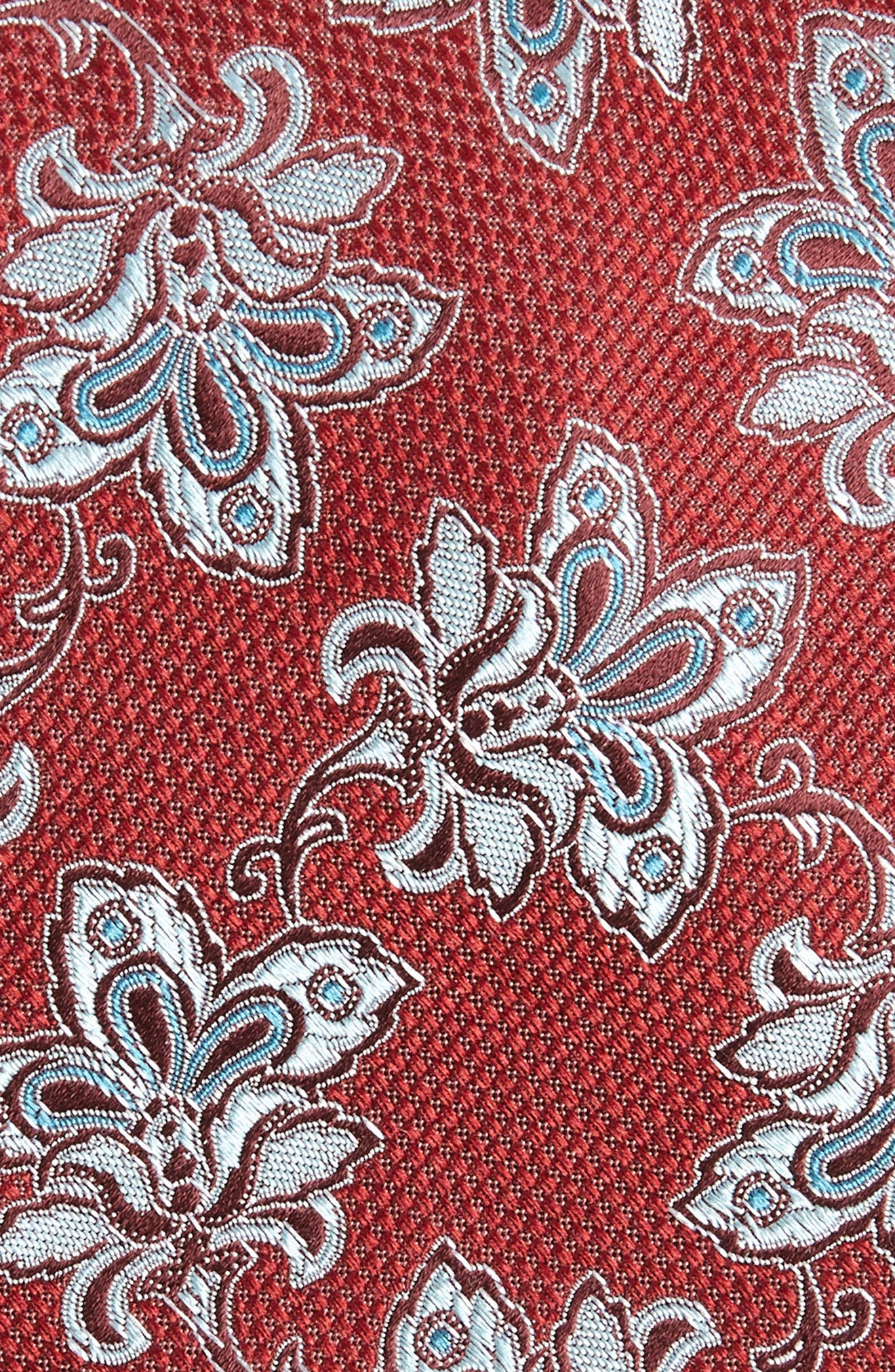 Shaw Floral Silk Tie,                             Alternate thumbnail 2, color,                             Red