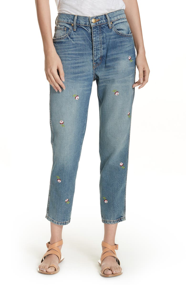 The Rigid Fellow Floral Embroidered Jeans