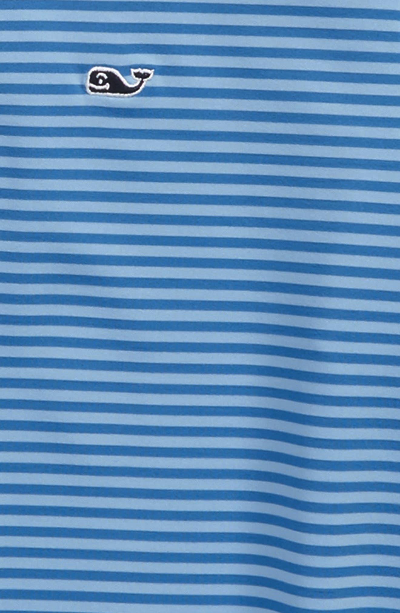 Feeder Stripe Performance Polo,                             Alternate thumbnail 2, color,                             Hull Blue