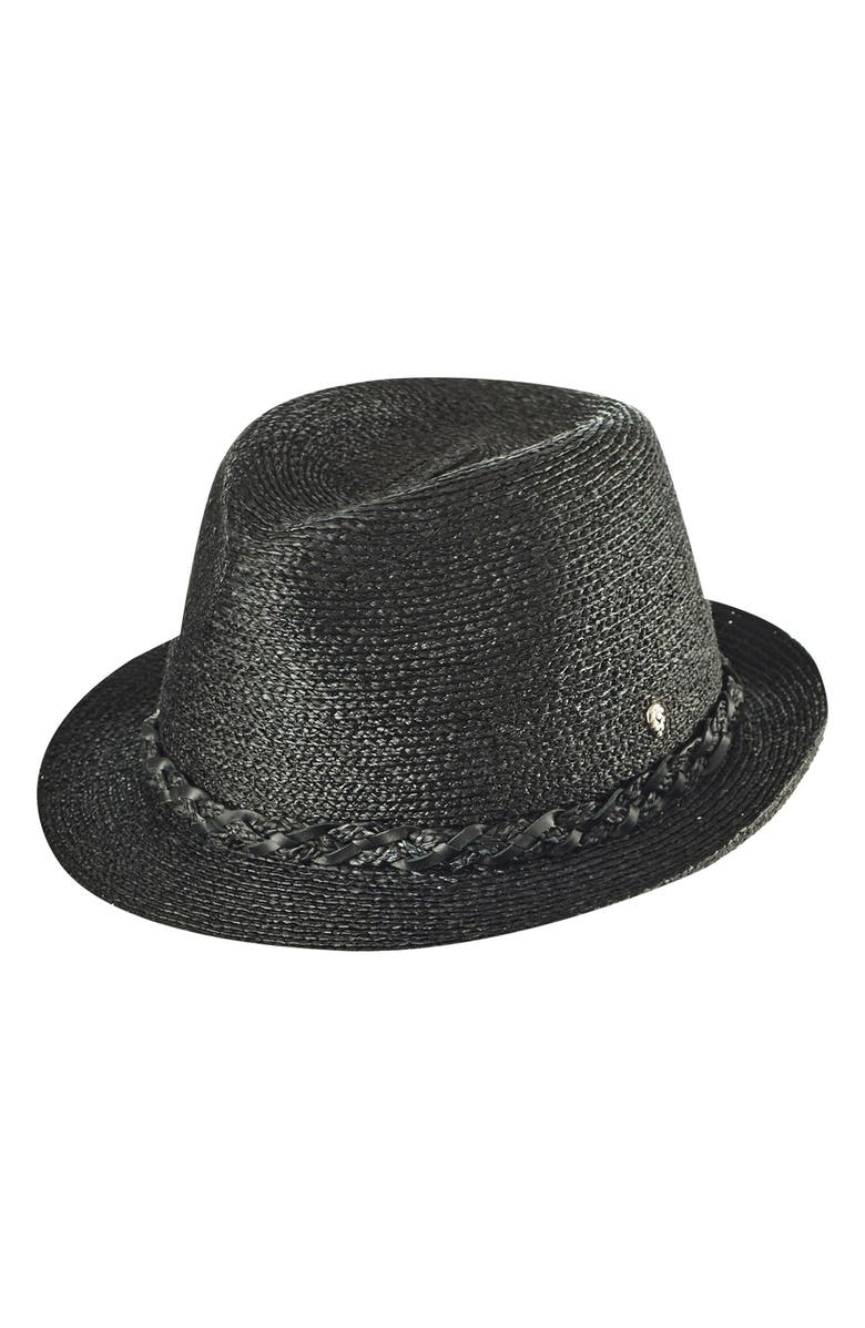 9edcc6d007c Helen Kaminski Raffia Packable Fedora - Black In Charcoal  Black ...