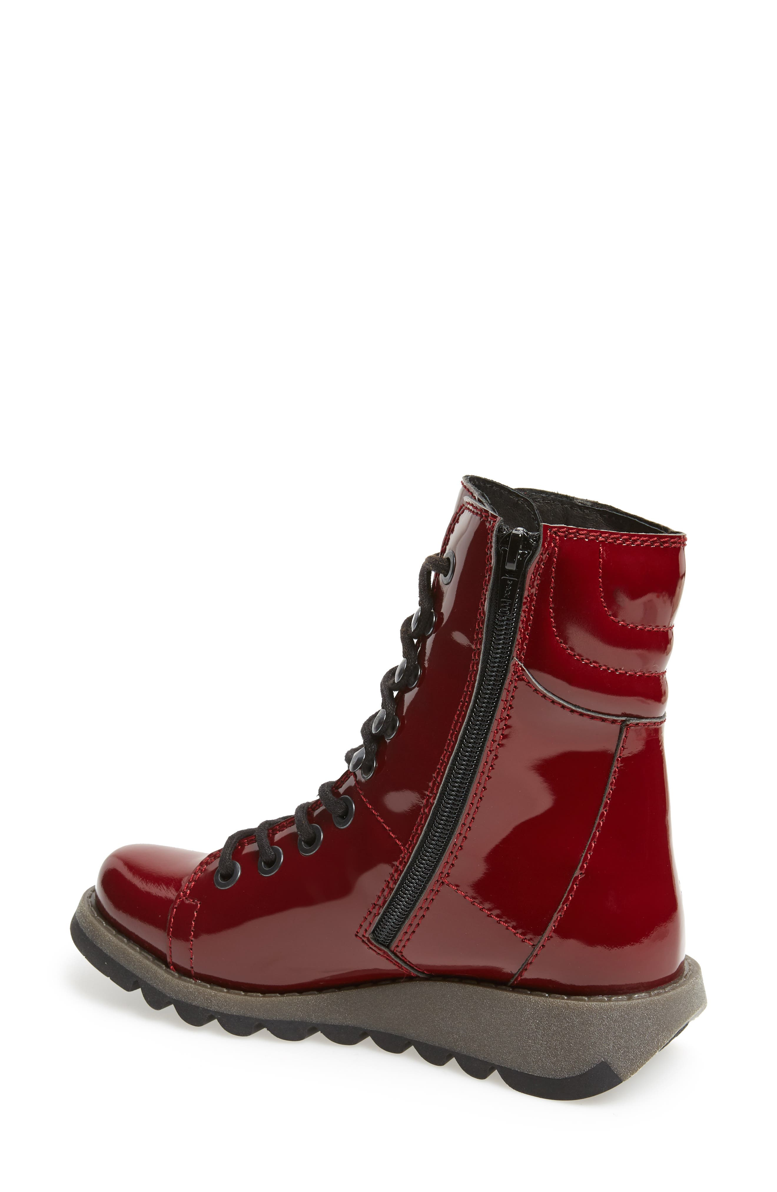 Same Lace-Up Boot,                             Alternate thumbnail 2, color,                             Burgundy