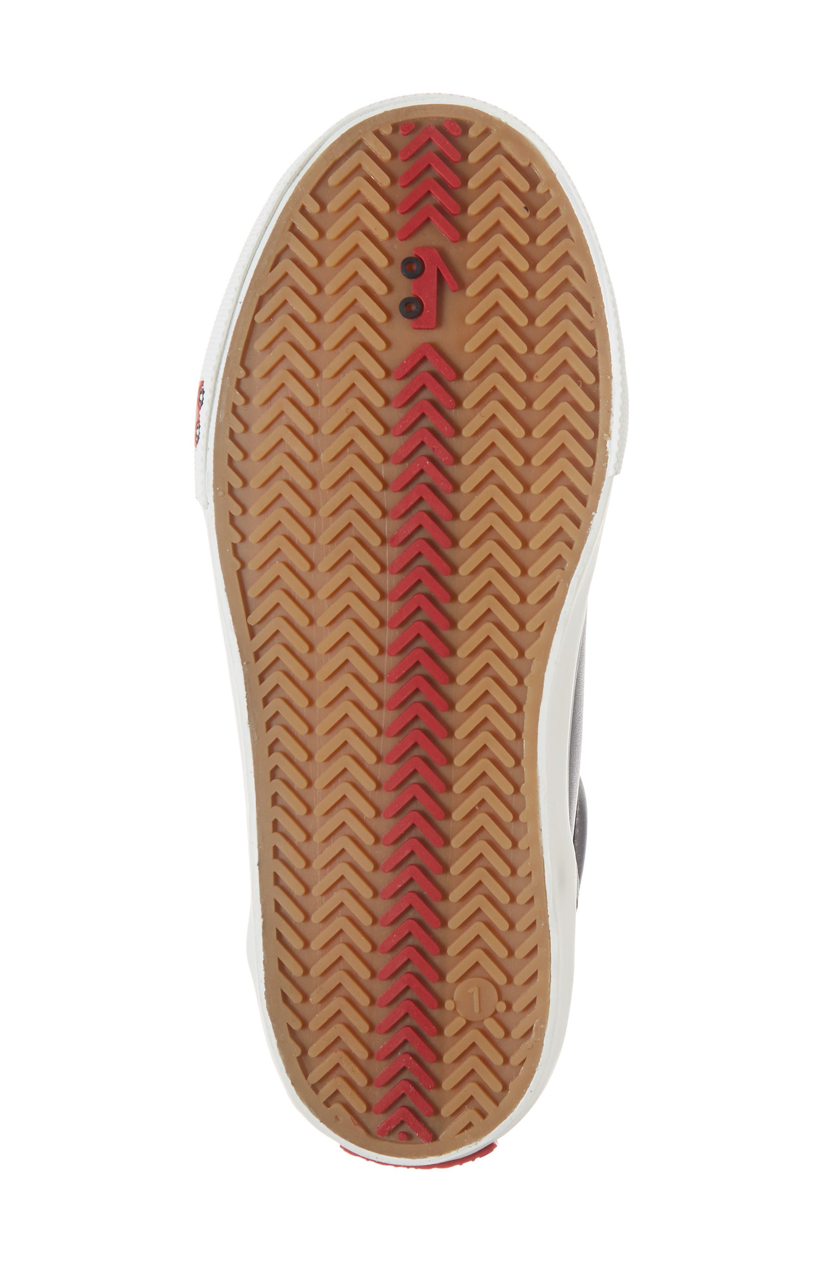 Peyton Metallic Mid Top Sneaker,                             Alternate thumbnail 3, color,                             Black Leather